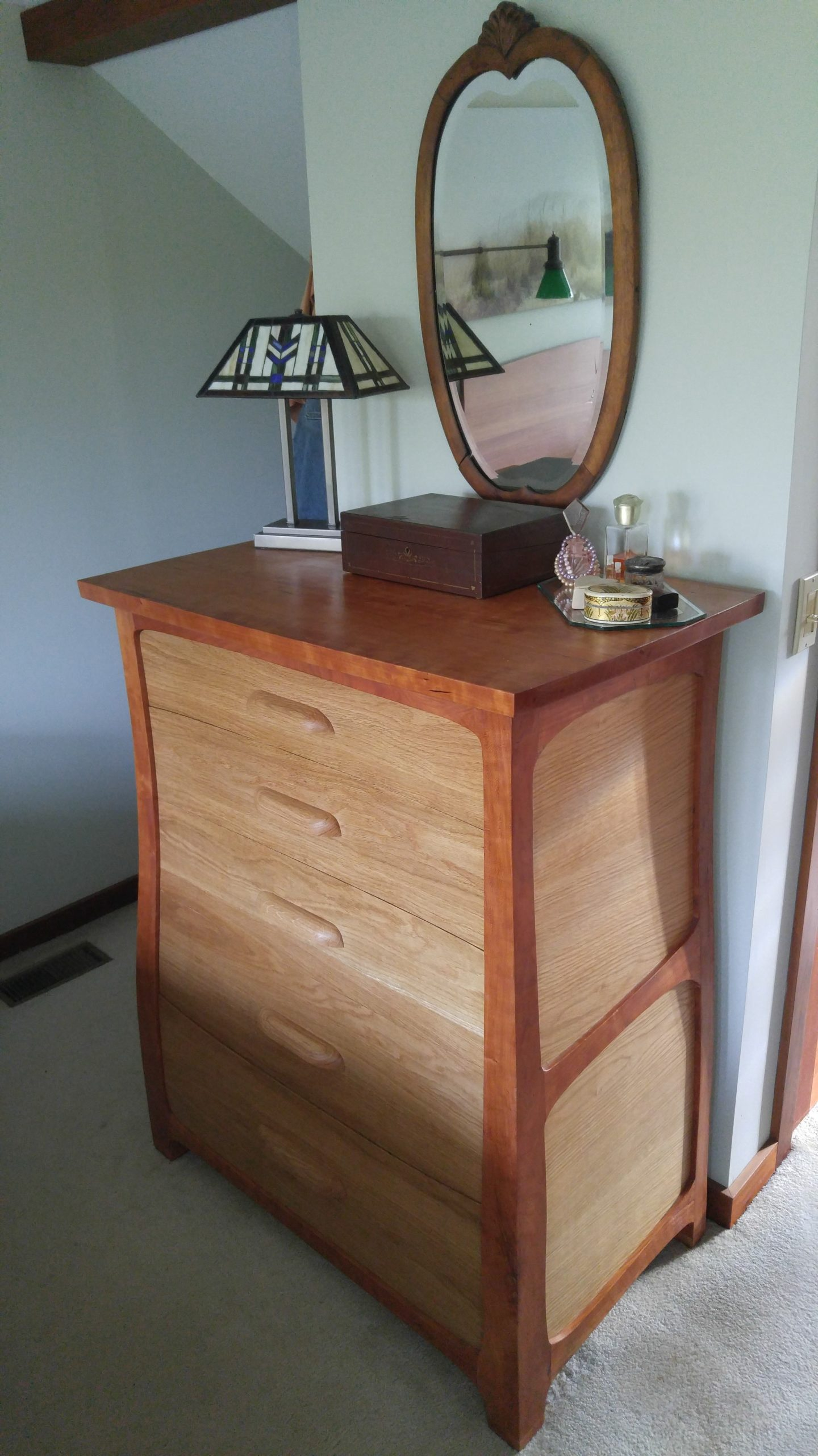 Bruce Milne's chest of drawers.