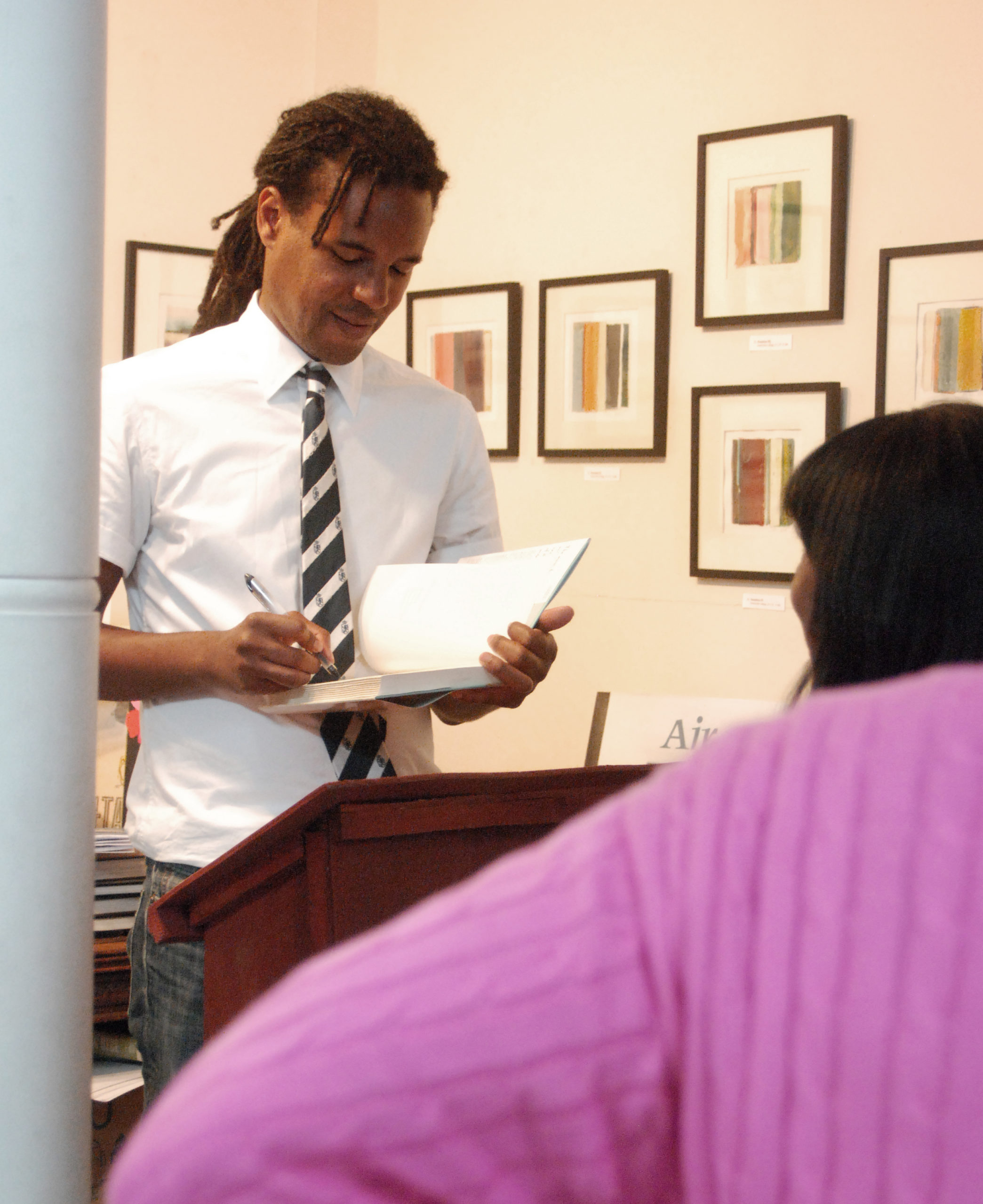 Colson Whitehead read at Canio's in 2009. KATHRYN SZOKA