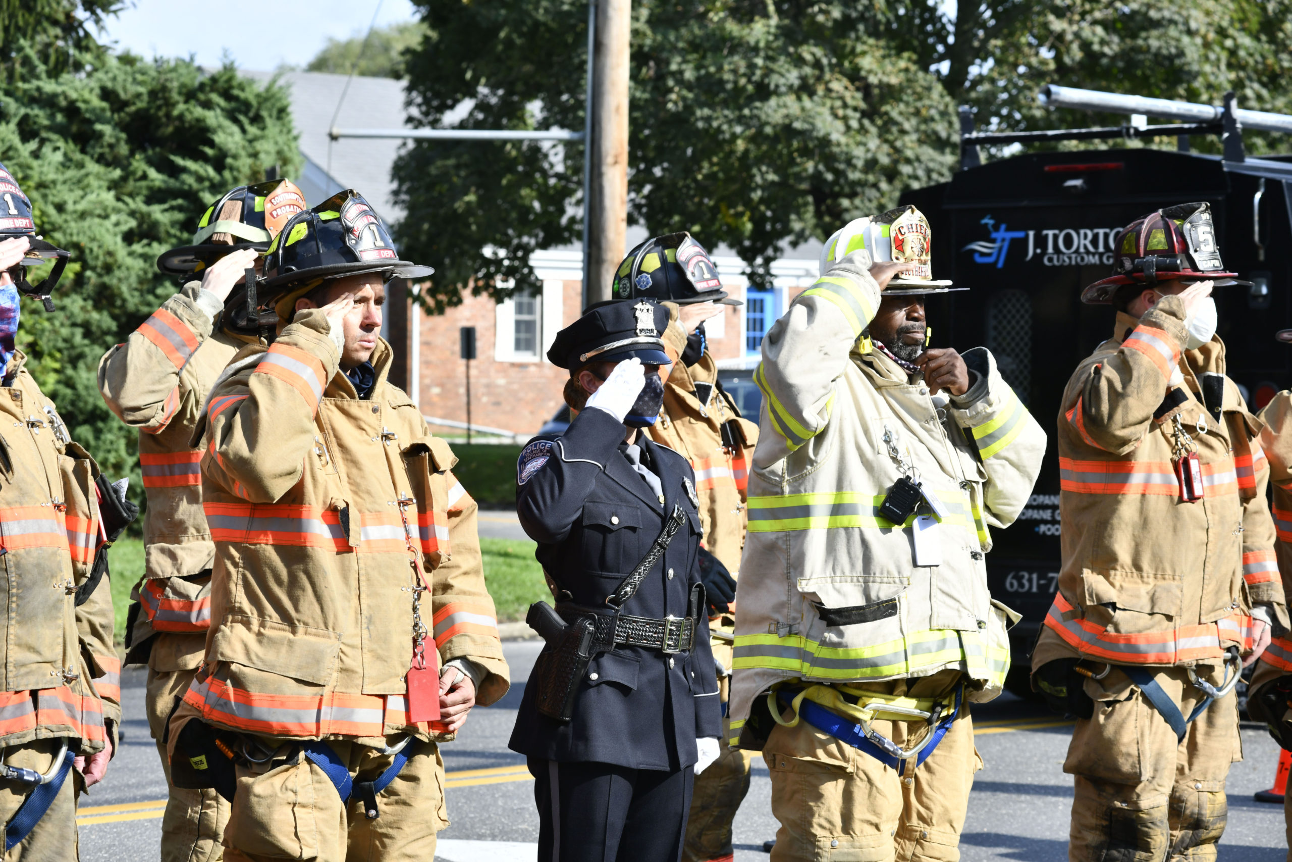 The Southampton Fire Department memorial on Friday morning.