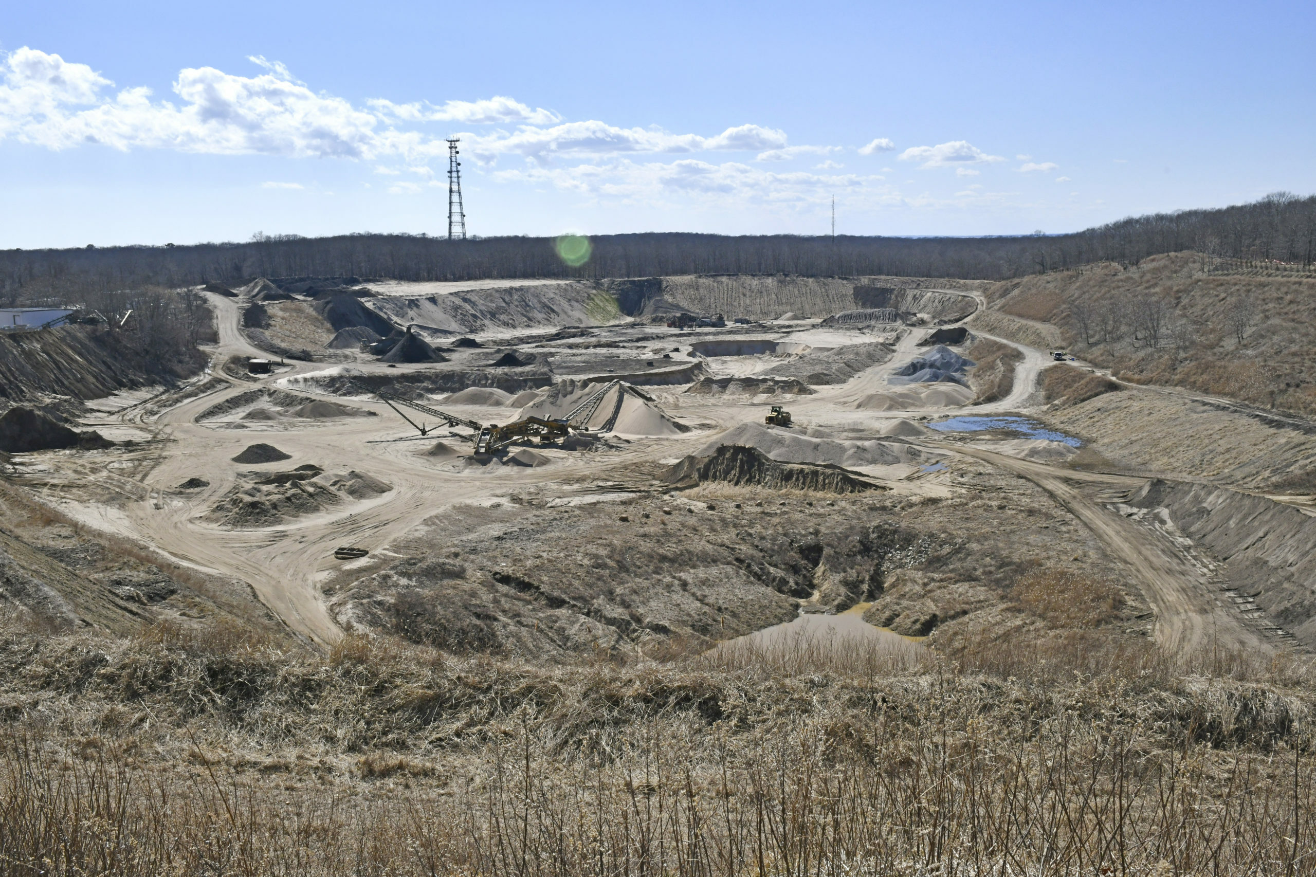 The Sand Land sand mine site in Noyac. FILE PHOTO