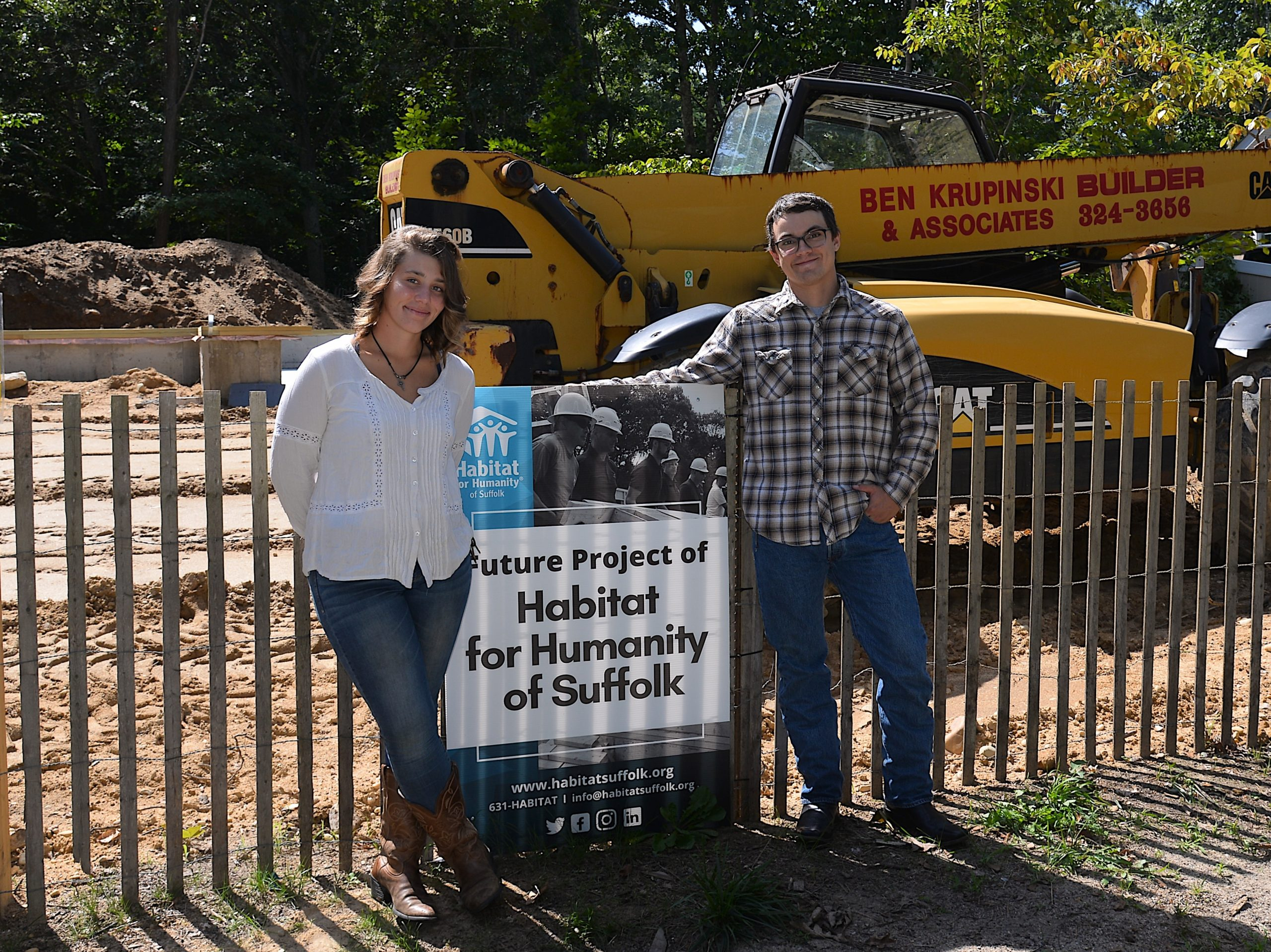 Cheyenne Banville and Anthony LaFountain at the site of their new home.  KYRIL BROMLEY