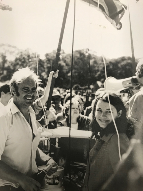 Malcolm Brighton and Pamela Brown in the gondola of The Free Life shortly before launch. Courtesy of Genie Chipps Henderson/LTV.