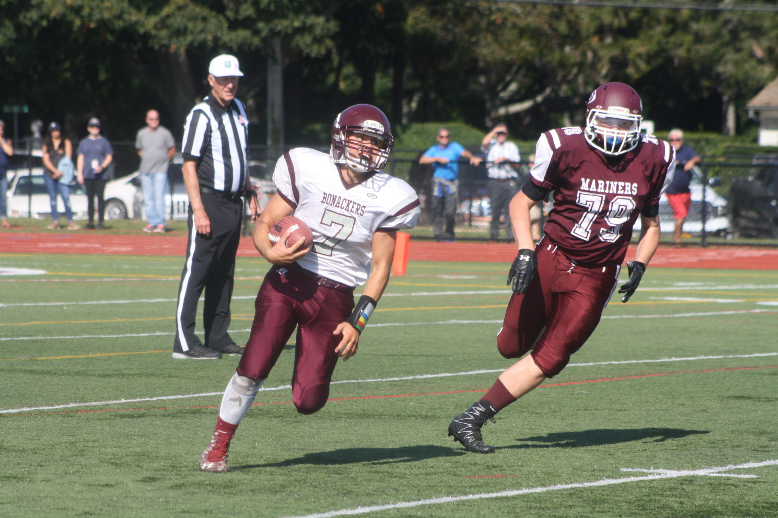 The East Hampton football team was gearing up for its return this fall then COVID-19 happened.  EXPRESS FILE