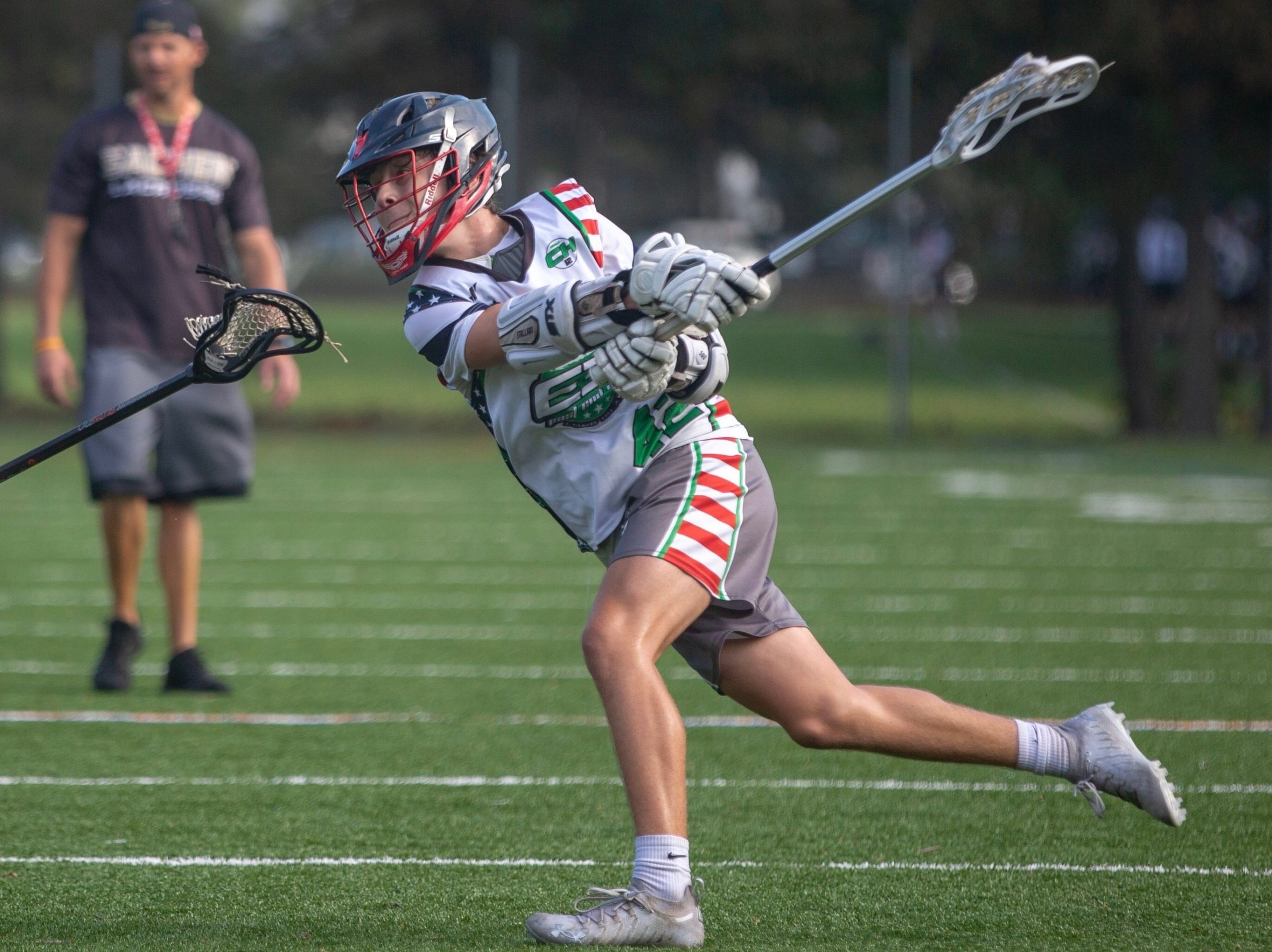Owen Duffy in action for E3, a club team based in Westhampton.