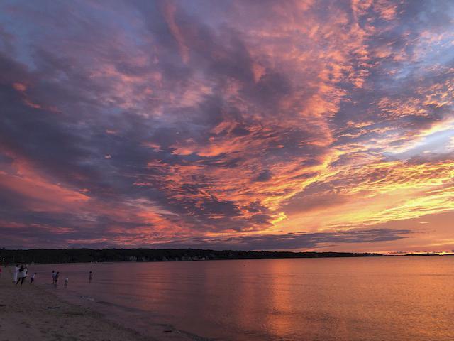 Elizabeth Wolff captured this spectacular sunset on Long Beach last week.     COURTESY ELIZABETH WOLFF