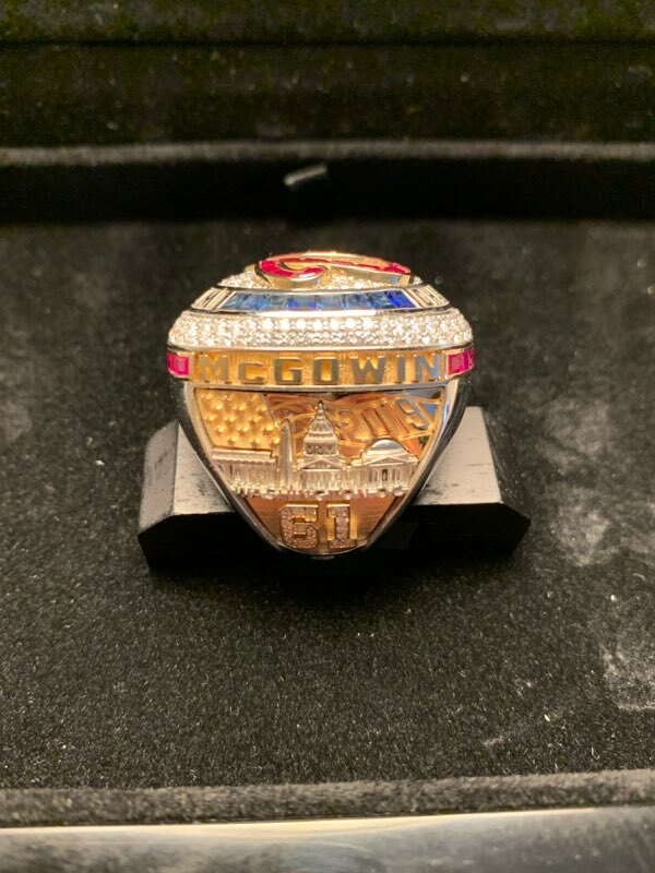 Kyle McGowin's World Series ring.