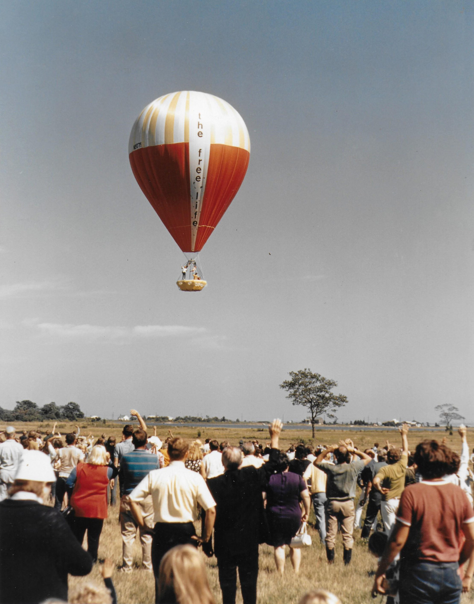 The Free Life balloon launch in Srings. September 20, 1970.