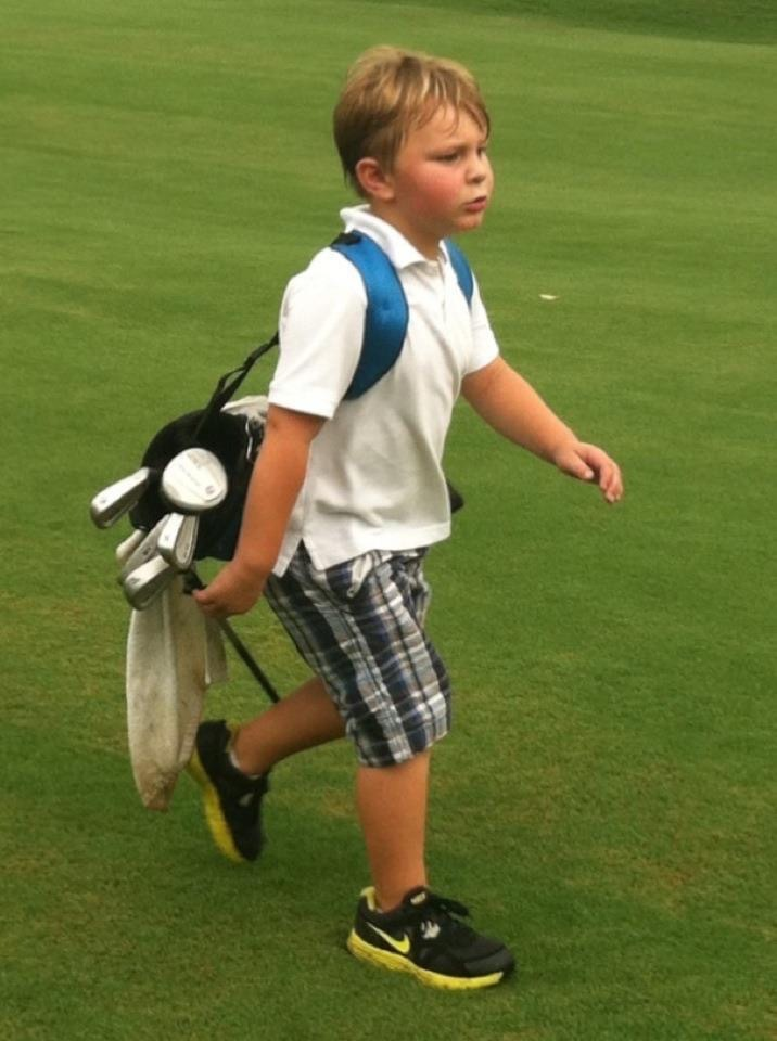 The Bock family is at home on the golf course.