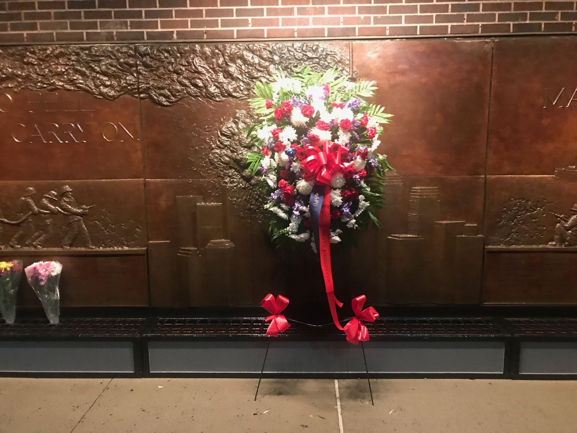 The memorial at the 10 house, the firehouse across from Ground Zero. COUTRTESY JAMES BURKE