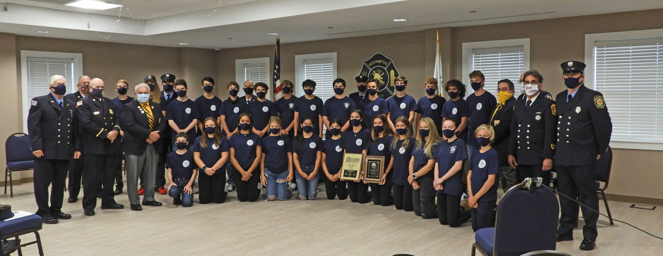 The Westhampton Beach  Fire Department Junior Program received the National Volunteer Fire Council Award for 2020, beating out all other programs in the entire country. COURTESY CODY HOYLE