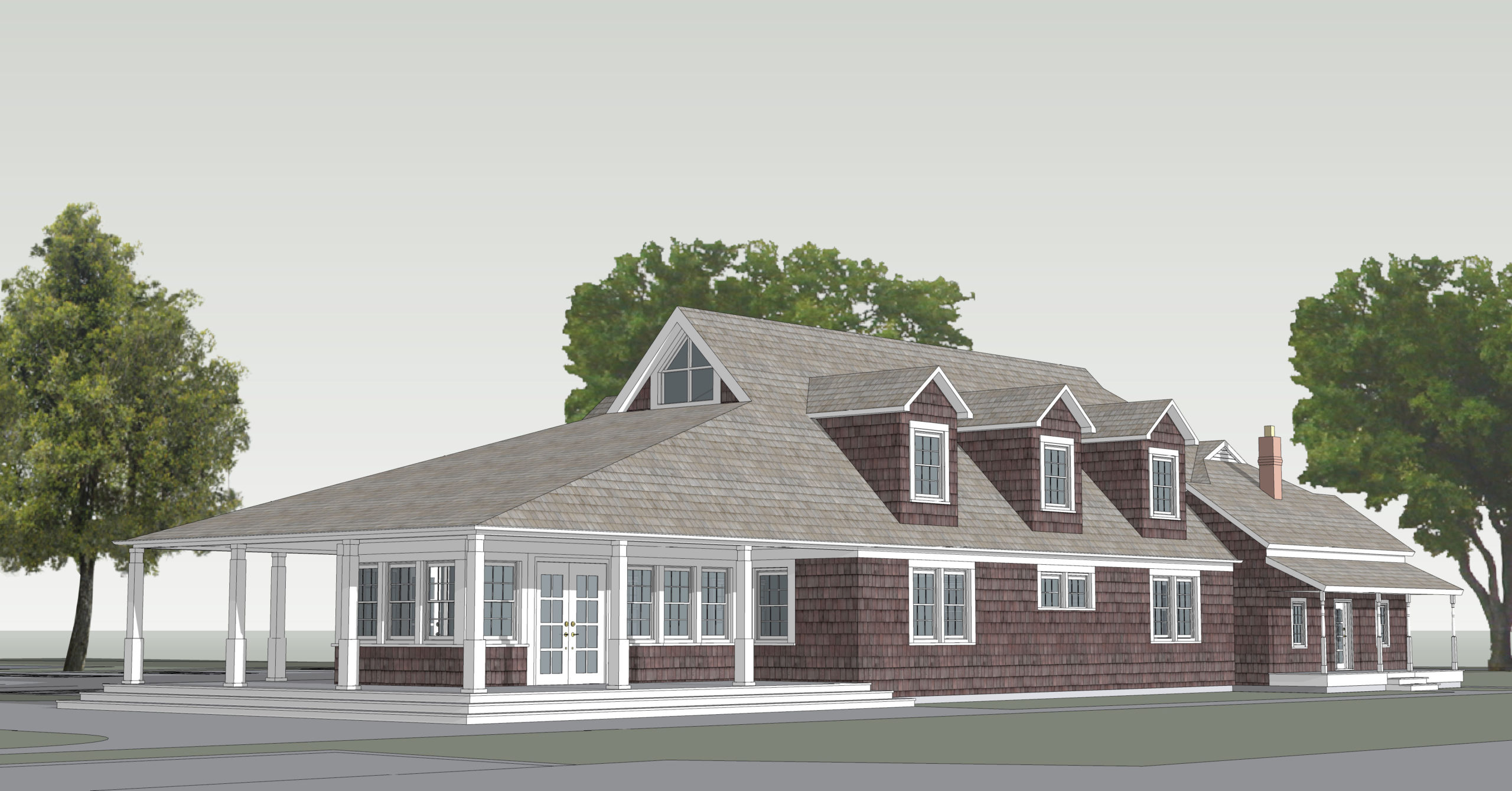 A rendering of the Bridgehampton Childcare and Recreational Center's new classroom and administrative building.             COURTEDY Siamak Samii Architect