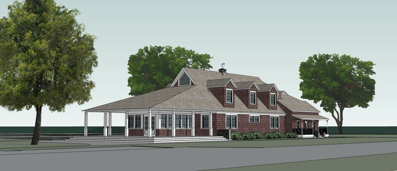 A rendering of the new building being constructed for the Bridgehampton Child Care and Recreational Center.