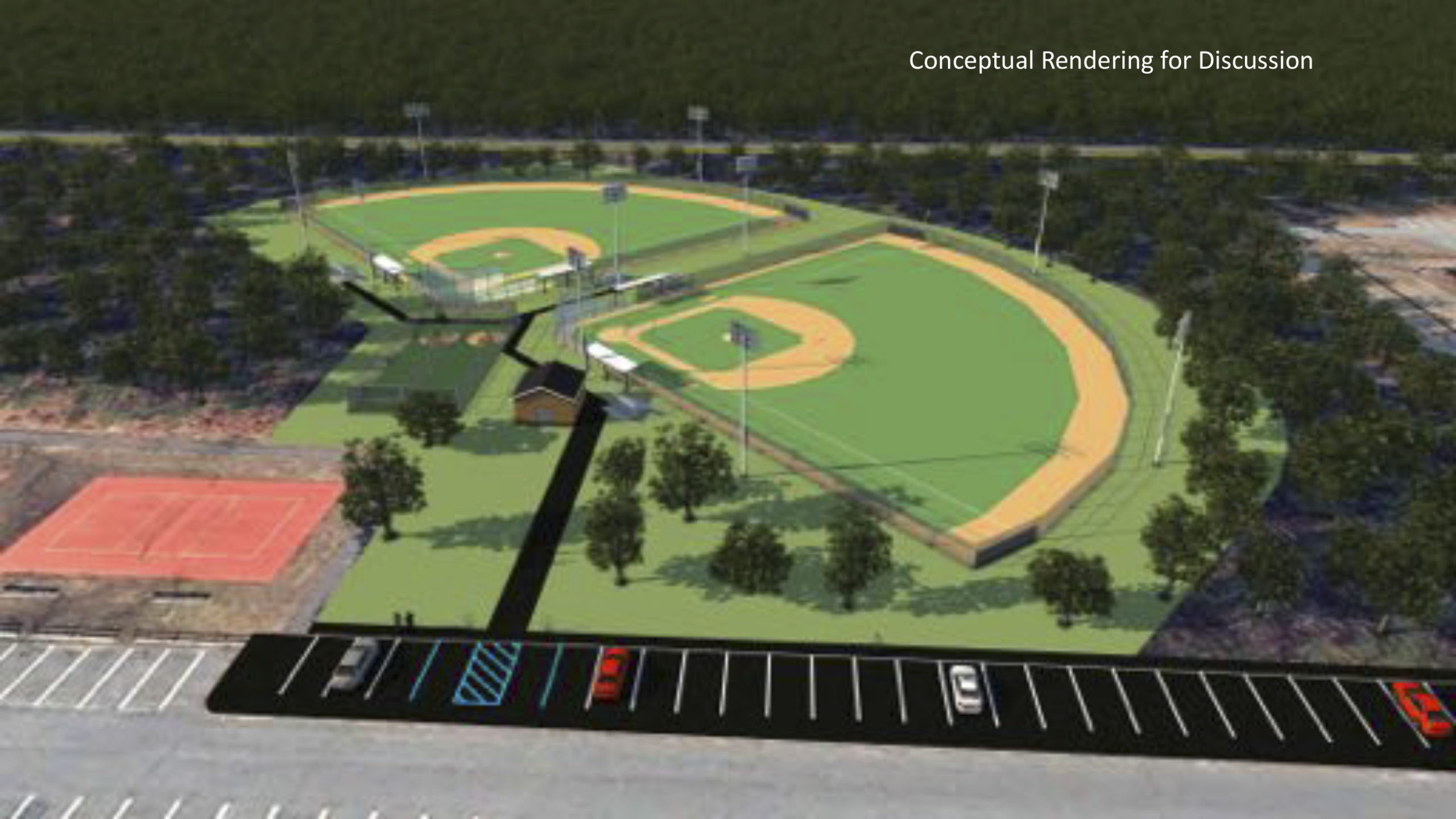 A committee has recommended building two new artifical turf ballfields off Stephen Hands Path.