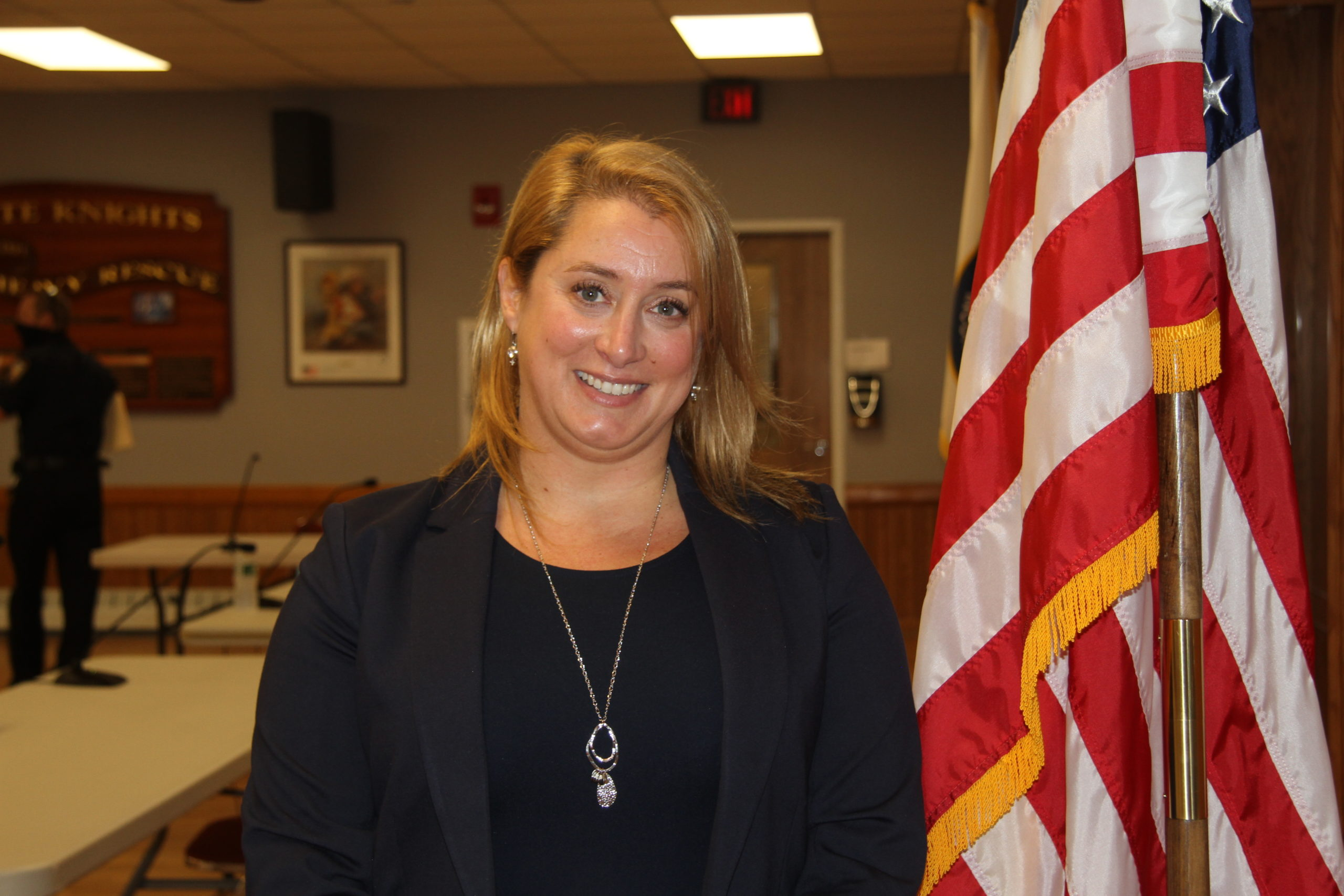 Rebecca Molinaro abruptly resigned as the village administrator last week, to take a newly vacant position with East Hampton Town, and Mayor Jerry Larsen announced at Friday's Village Board meeting that his former campaign manager, Marcos Baladron, would be filling the seat. The move was approved by the NewTown Party majority but opposed by Trustees Arthur Graham and Rose Brown, who said they had not even seen Mr. Baladron's resume.