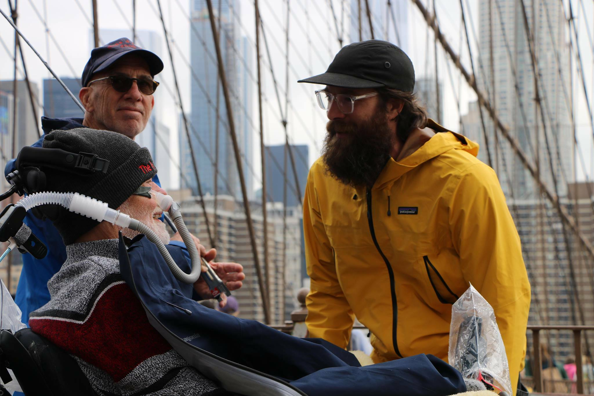 Christopher Pendergast speaks with his son, Buddy, during the 2018 ALS Ride for Life.
