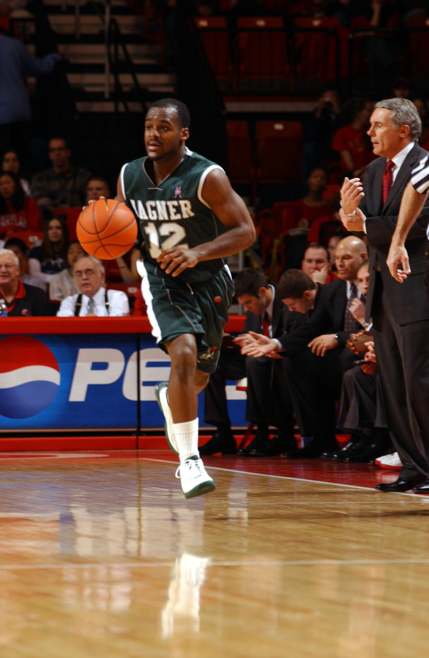 Southampton alum Courtney Pritchard was a star point guard for Wagner College in the early 2000's and was recently inducted into the school's Hall of Fame. He led the team to the NCAA tournament in his junior year.  COURTESY WAGNER ATHLETICS