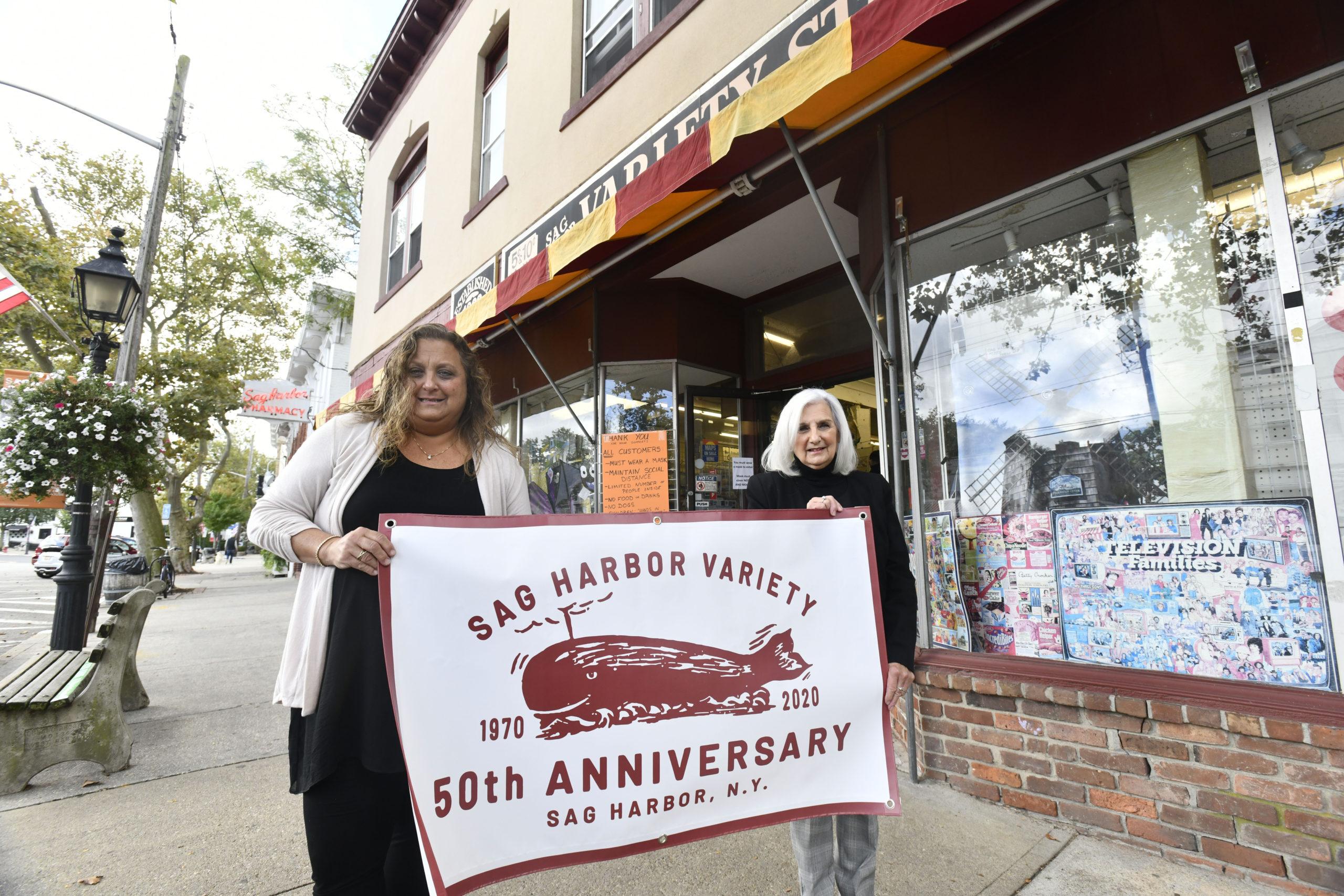 Lisa Field and Roseann Bucking at the Sag Harbor Variety Store.  DANA SHAW