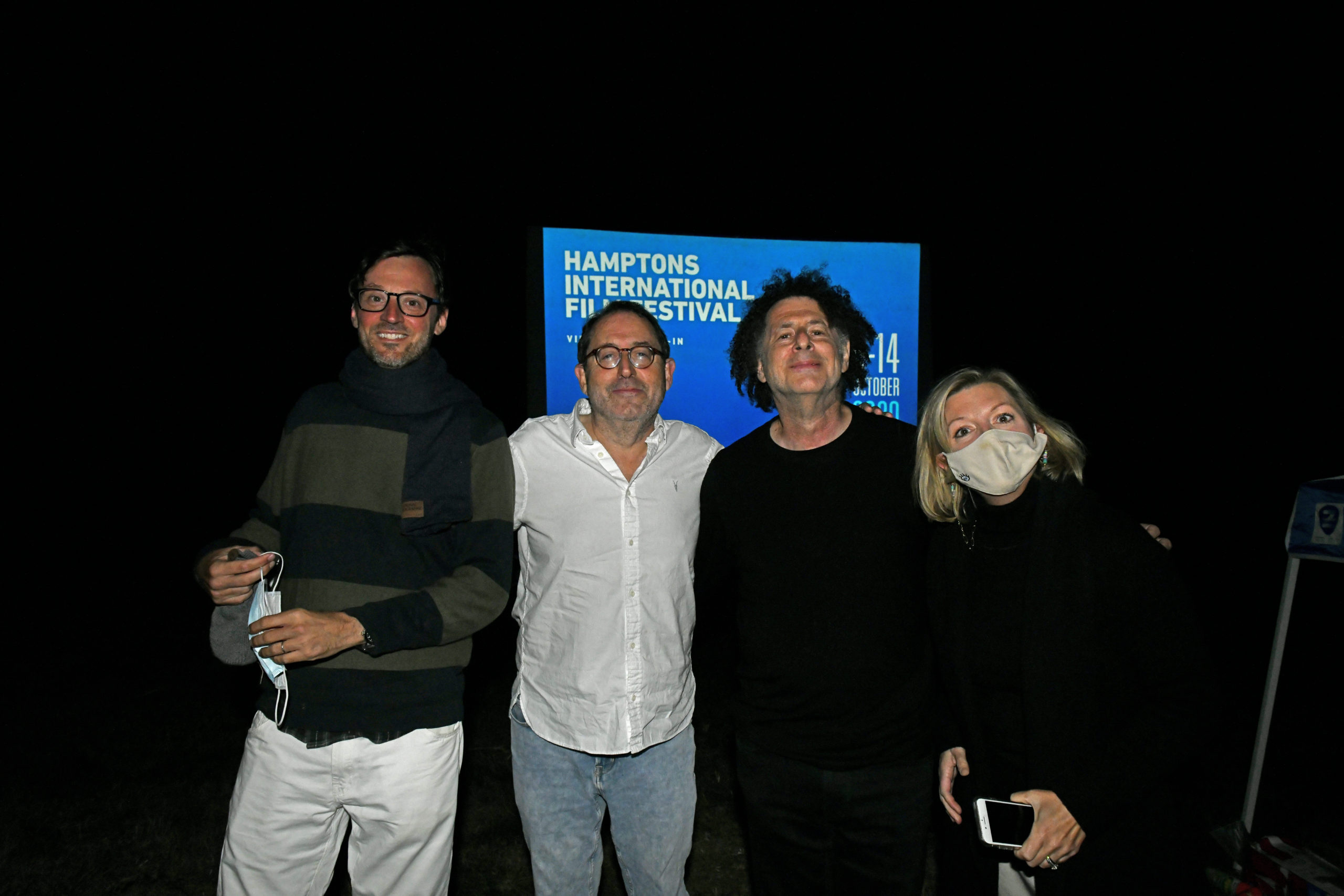 HIFF Artistic Director David Nugent, Co-President and Co-Founder of Sony Pictures Classics Michael Barker, Director Michael Dweck and HIFF Executive Director Anne Chaisson.