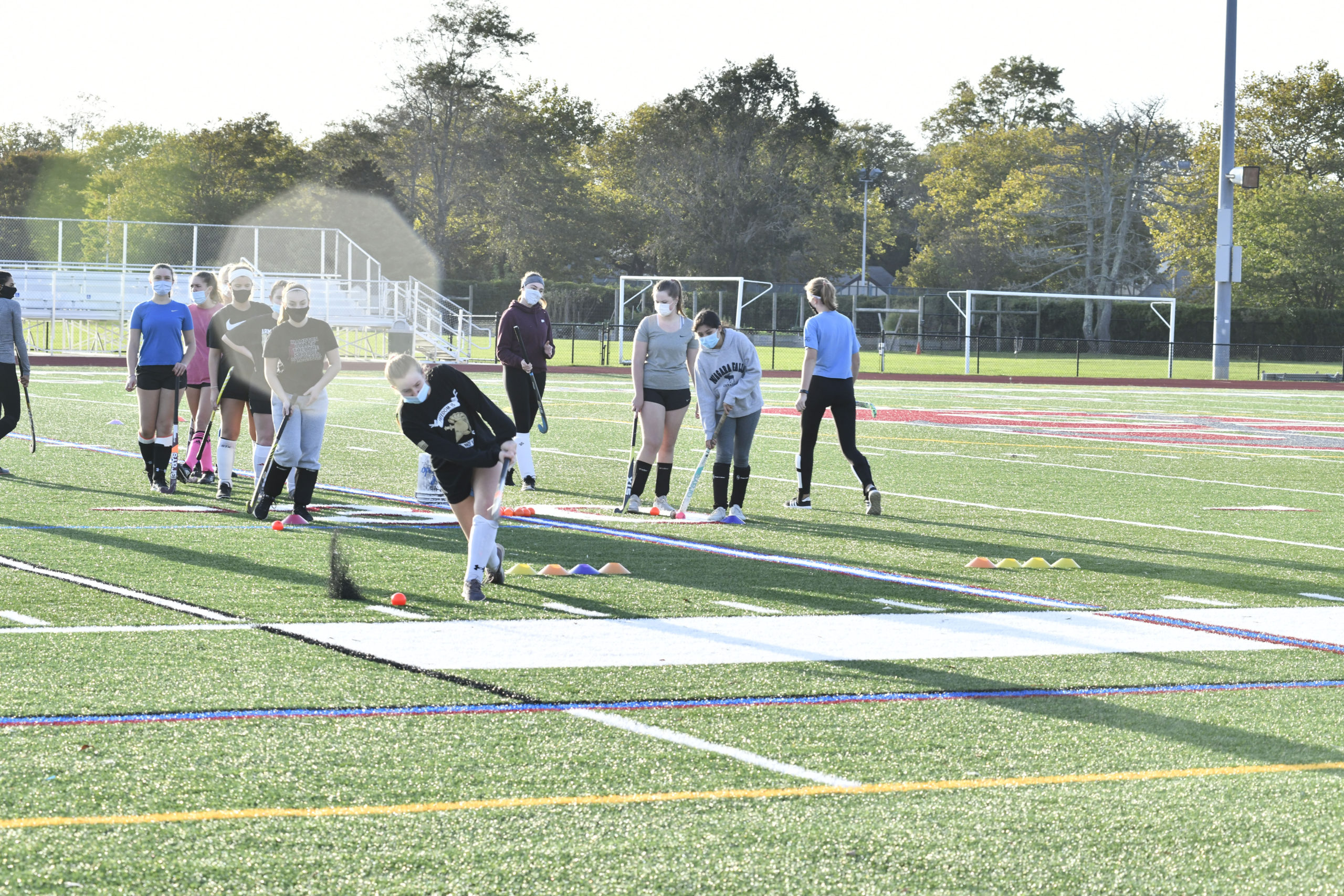 Intramural field hockey at Southampton High School.