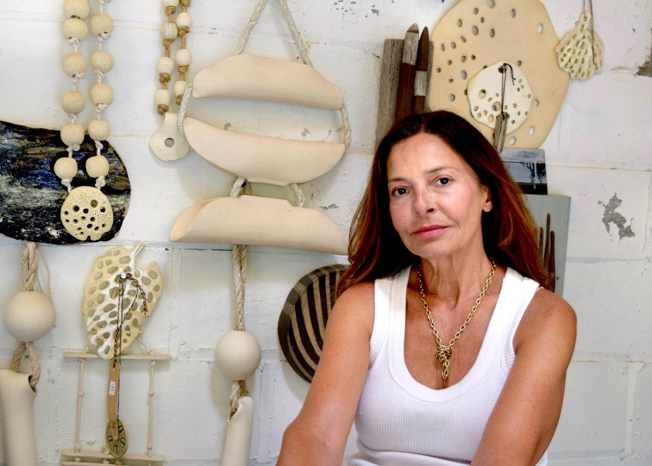 Rosario Varela in her studio.