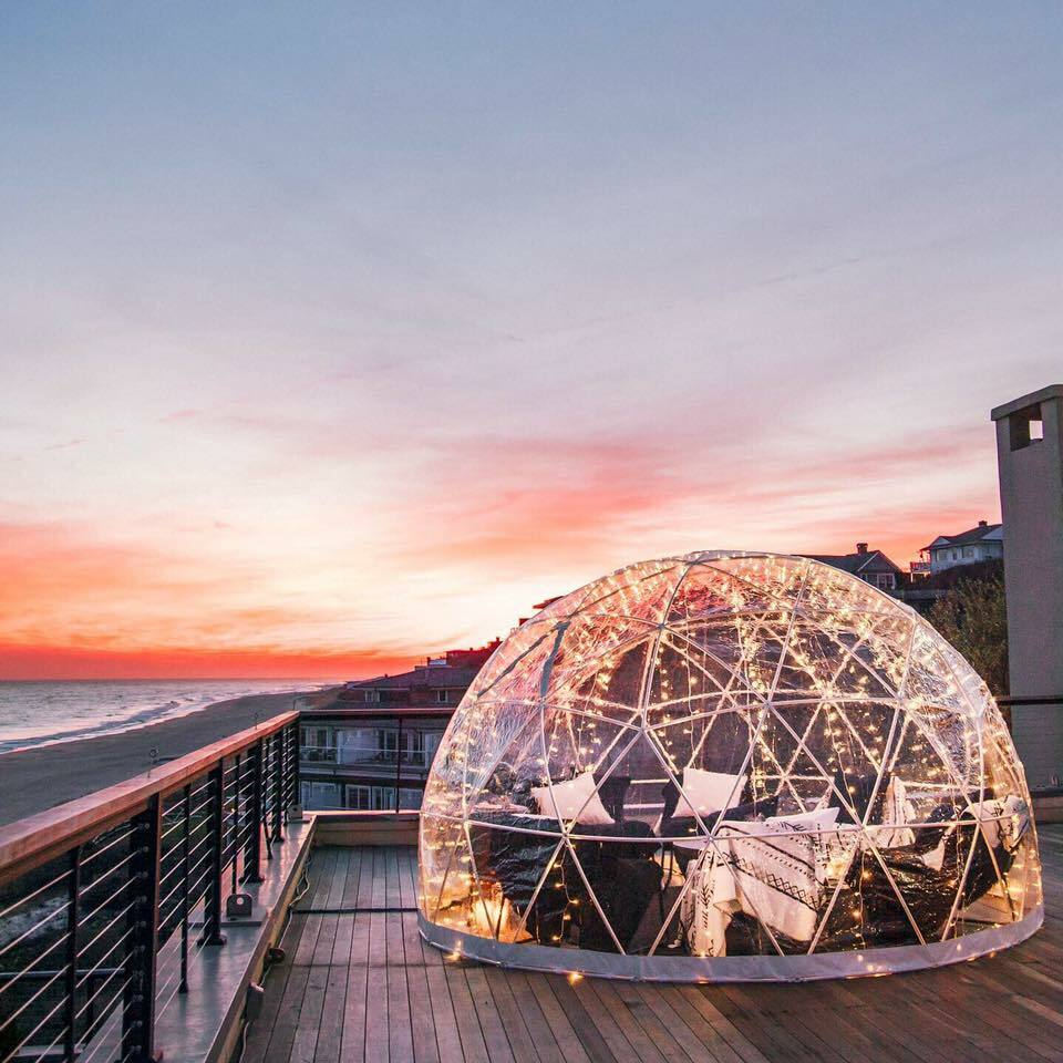 The heated igloos are back at Gurneys Montauk Resort and Seawater Spa.