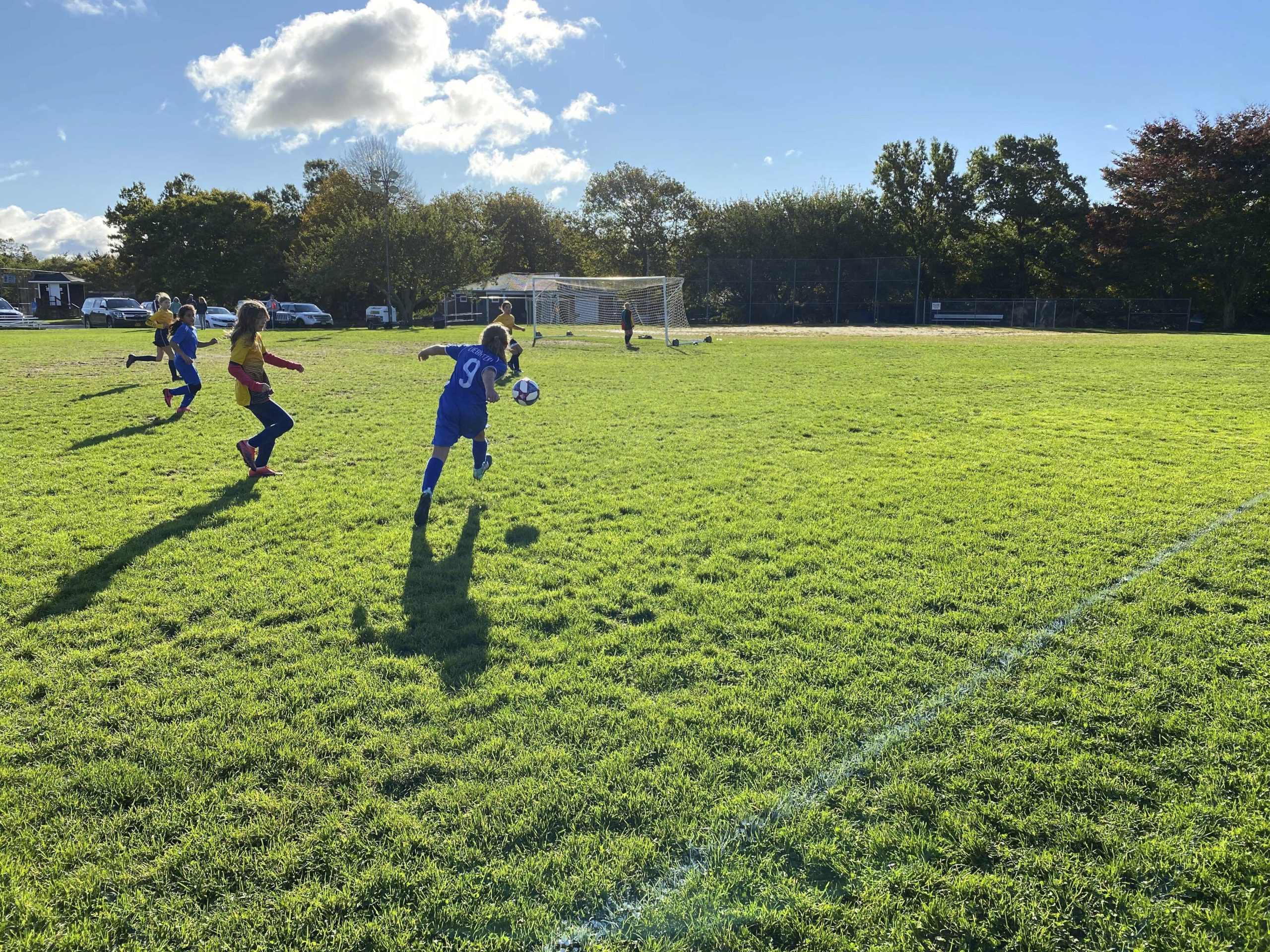 Southampton Soccer Club players were happy to be back on the field this fall, with Covid safety measures in place, after the cancellation of the season in the spring.