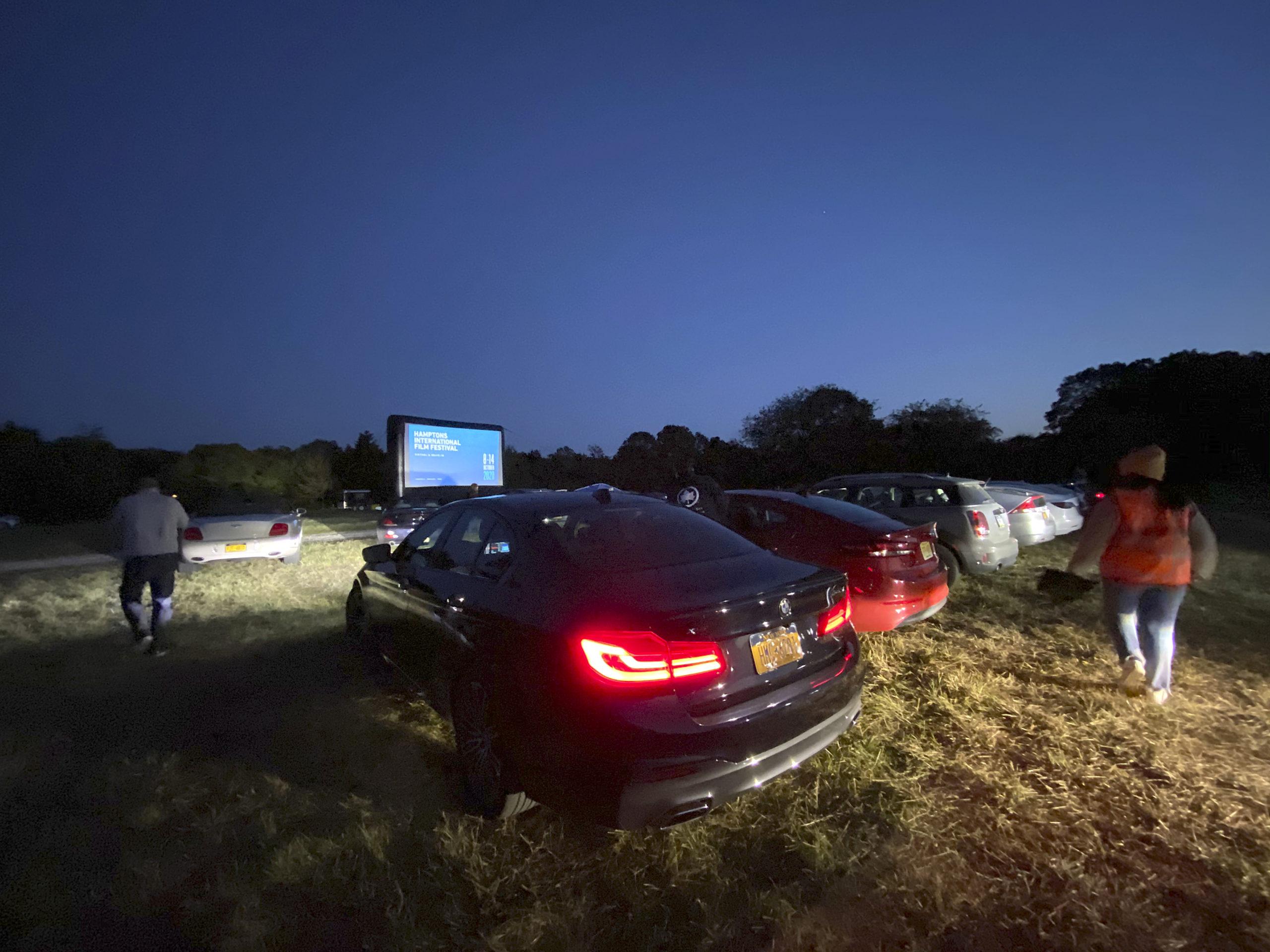 The Hamptons International Film Festival drive-in screening of