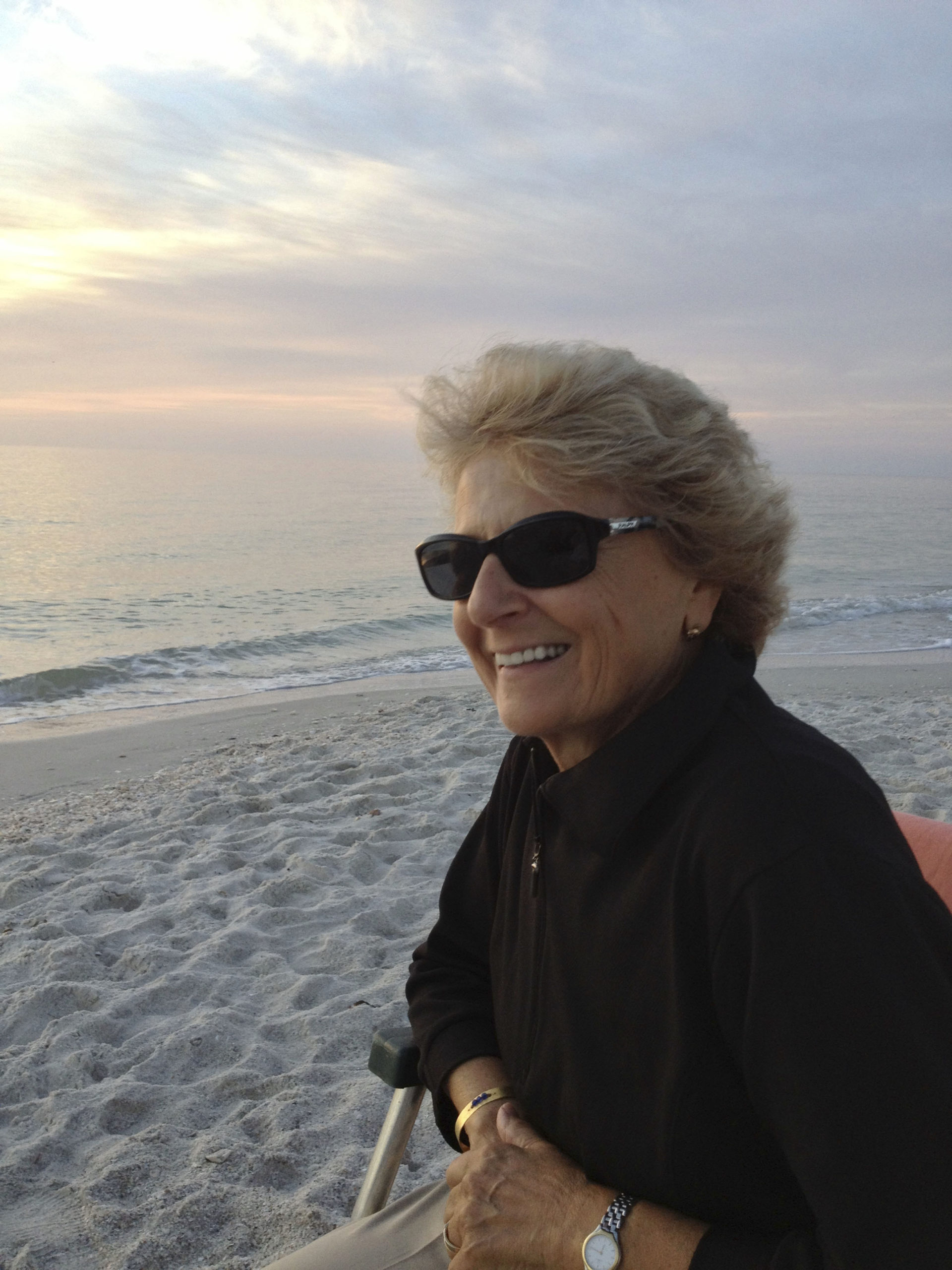 Dr. Josephine DeVincenzi of Sag Harbor, at her winter home in Naples, Florida.
