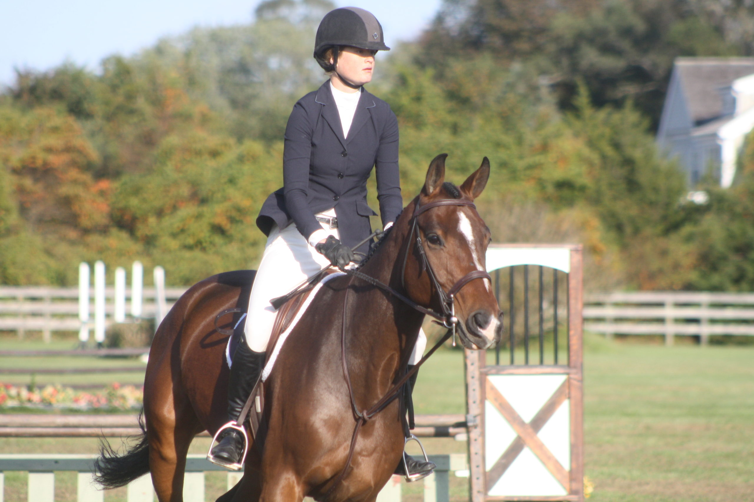 Phoebe Topping of Swan Creek Farm with her horse John Courage.  CAILIN RILEY