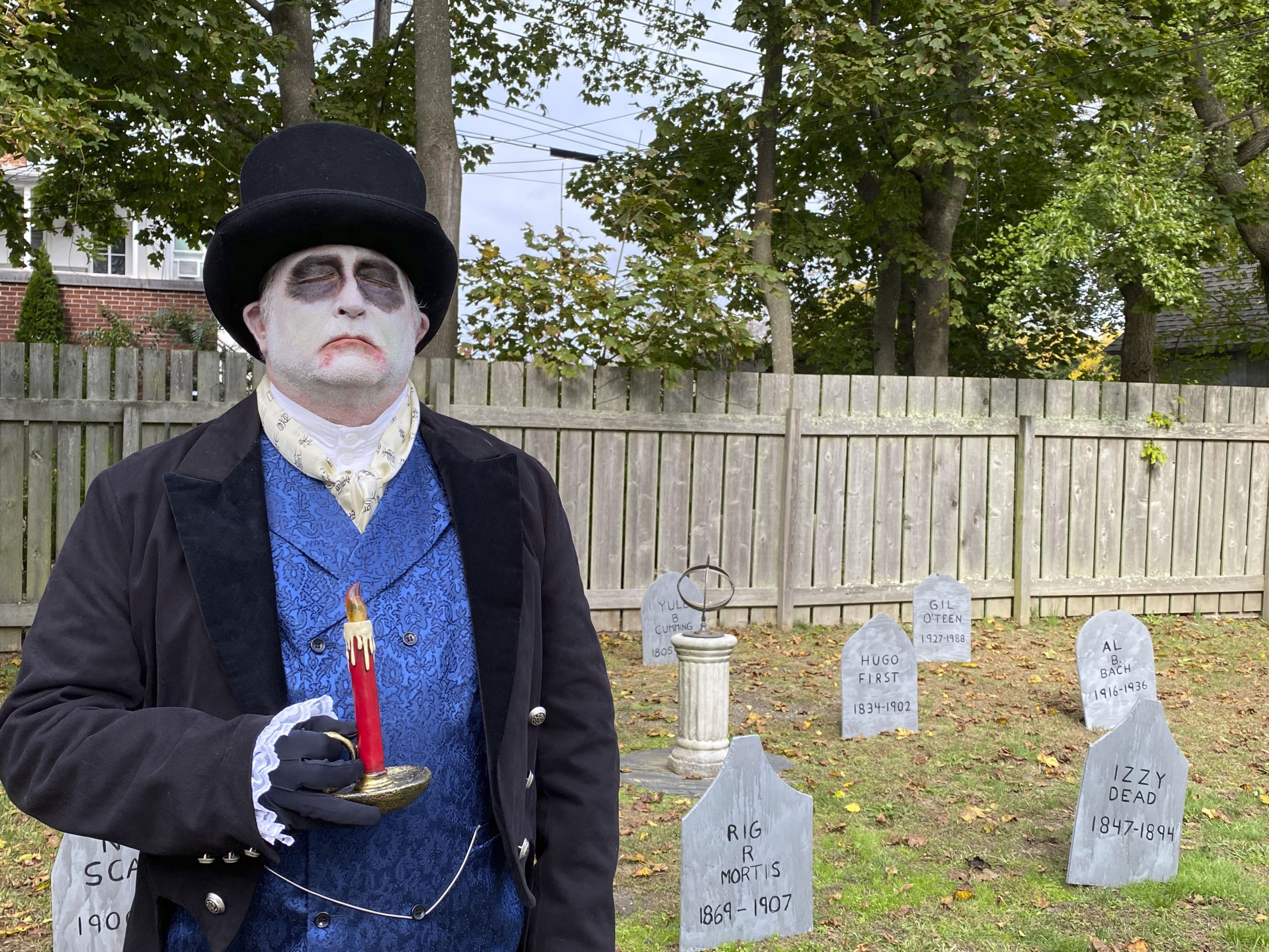 The Haunted Village at the Southampton History Museum on Saturday. The grounds of the Rogers Mansion are decorated for Halloween and are inhabited by witches, ghouls and even a plague doctor. The Haunted Village will be opened on Saturday October 31 from 2 to 4 p.m. Visitors are encouraged to wear their costumes. Reservations required with timed entrances for a 20 minute tour. Limited to 100 people at one time, only family groups of up to 6 allowed per reservation. Children must be accompanied by an adult with a reservation. Facemasks required and social distancing strictly enforced. Call (631) 283-2494 or visit southamptonhistory.org for more information. DANA SHAW
