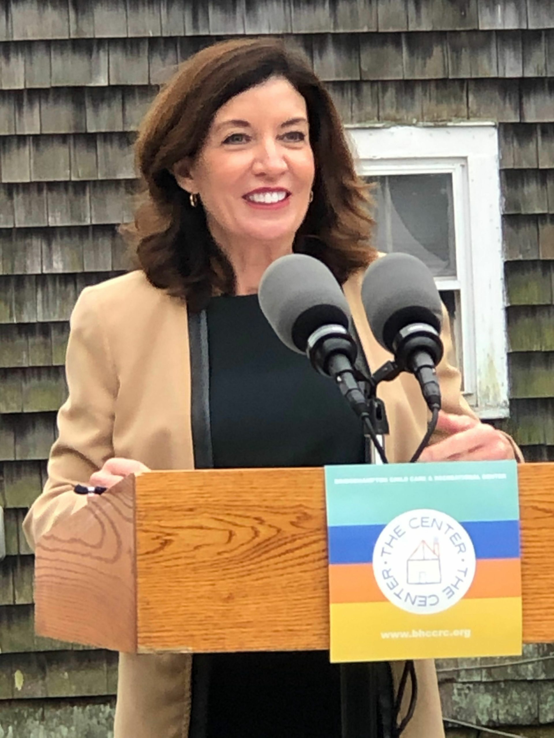 Lt. Governor Kathy Hochul at the Center's groundbreaking.