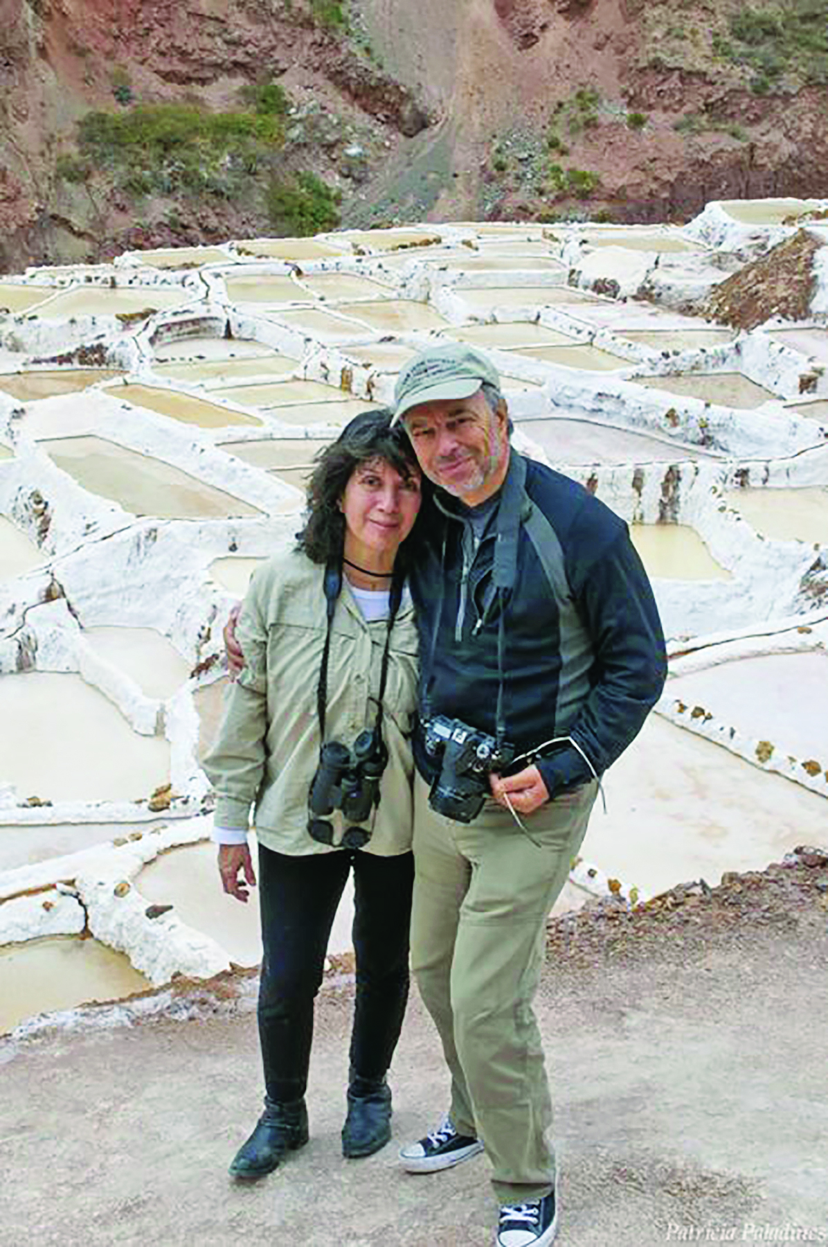 Patricia Paladines and Carl Safina at Salineras de Maras, Peru.