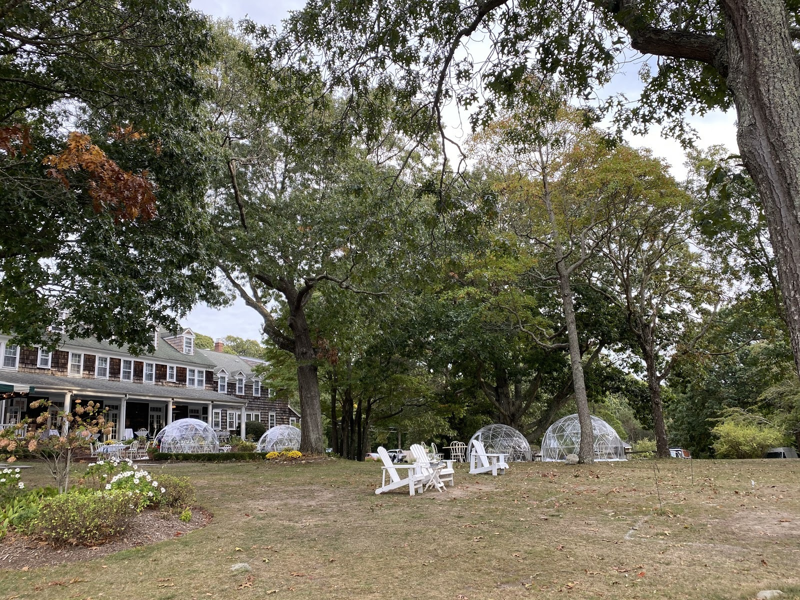 The Rams Head Inn on Shelter Island is offering heated igloos during the fall and winter seasons.