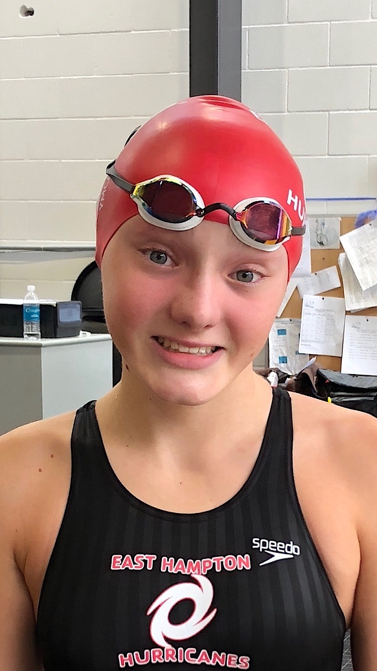 East Hampton Hurricanes swimmer Summer Jones, 15, earned national recognitions this year. Courtesy Ann Jones