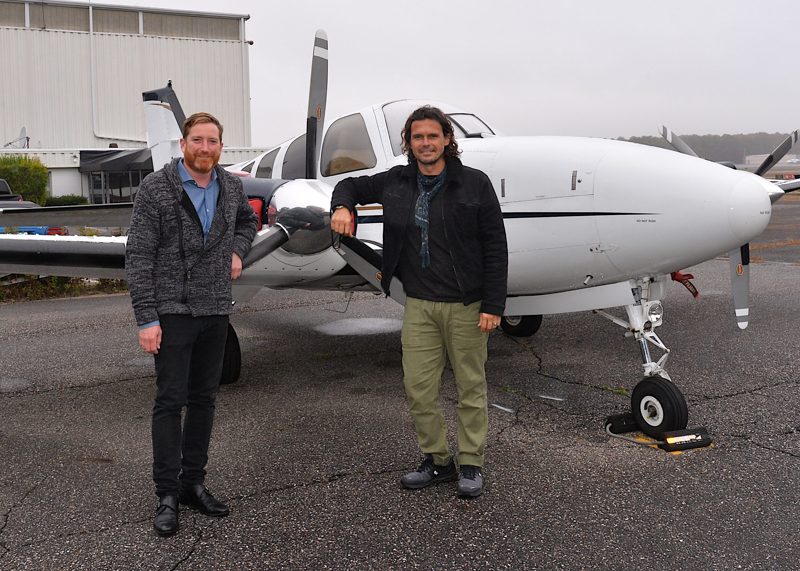 Mike Norbeck and Gianpaolo de Felice, founders of the East Hampton Community Alliance, a new group that is trying to bring more awareness to the fear among pilots that East Hampton Airport could be closed down in 2021.