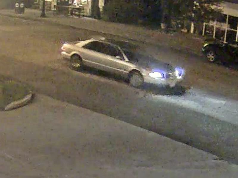 Video cameras captued an image of the perpetrator's car.  COURTESY SVPD