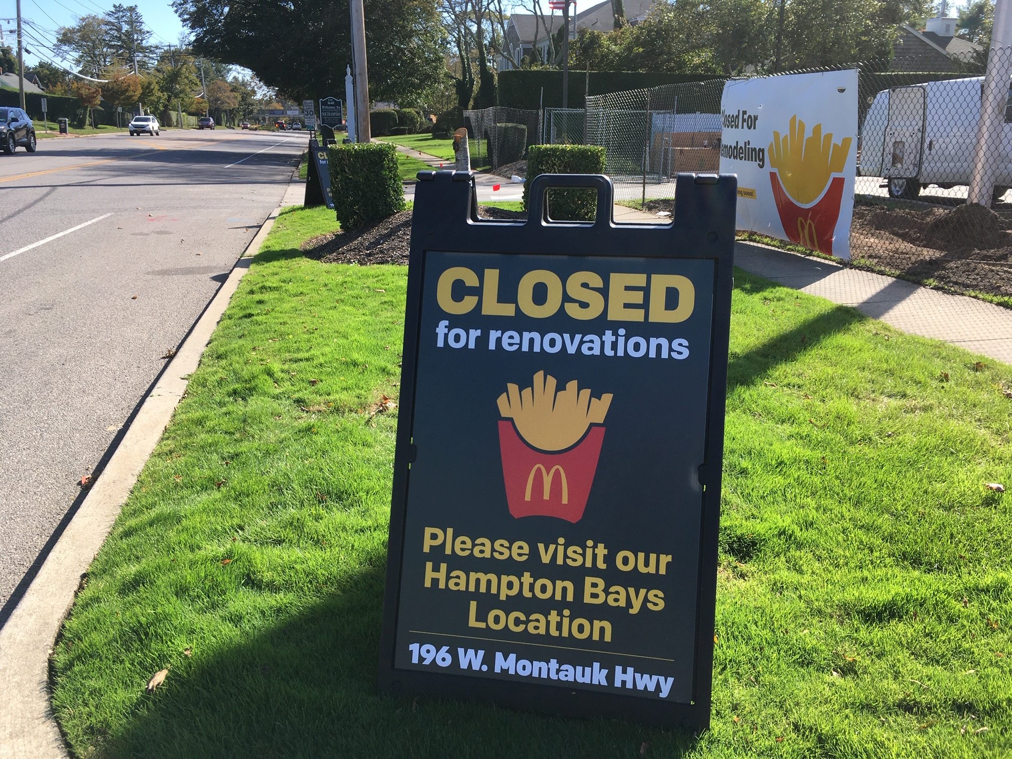 McDonald's on North Sea Road in Southampton is closed for renovations. KITTY MERRILL