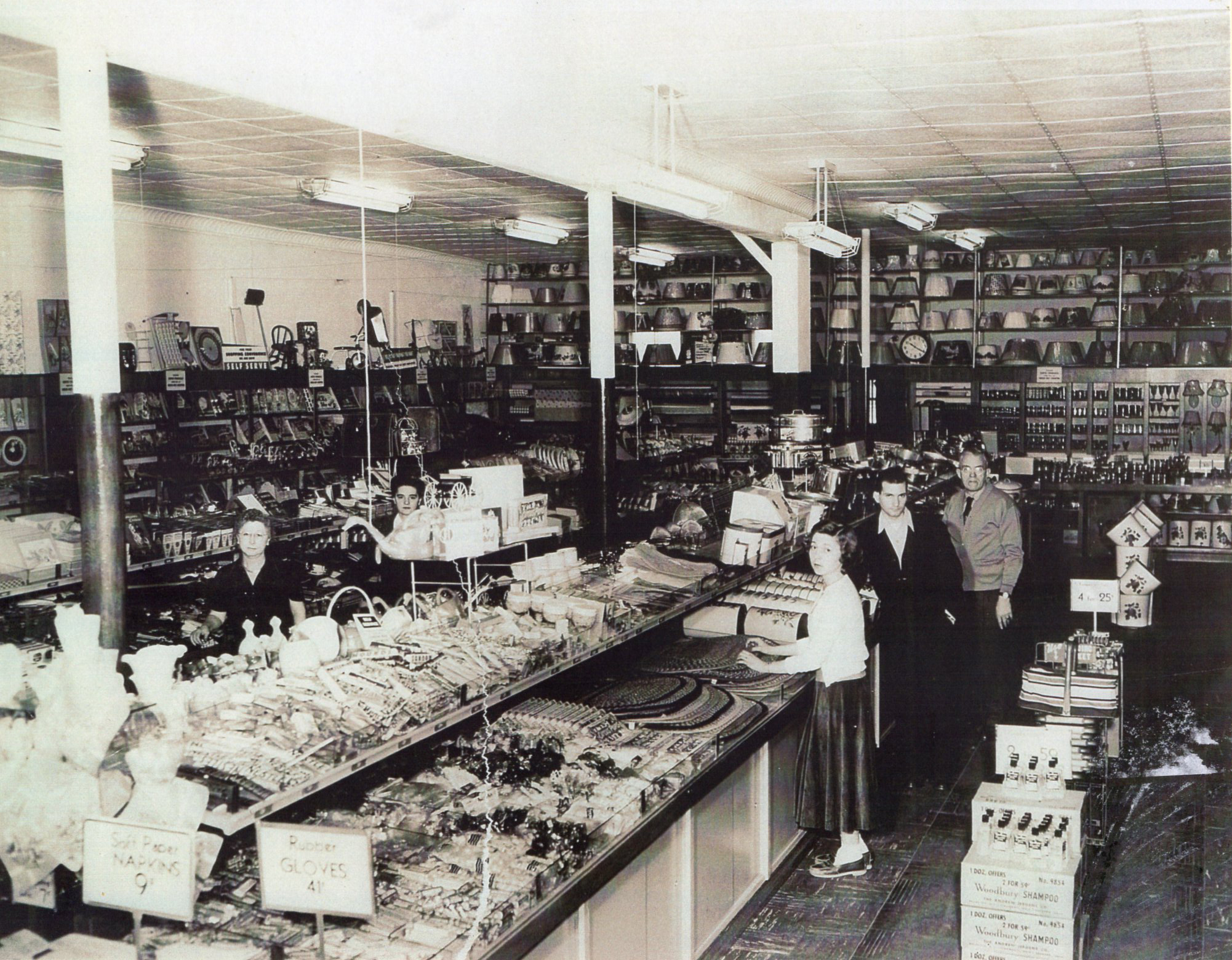 The Sag Harbor Variety Store when it was E.L. Hanson's Ben Franklin store.    COURTESY LISA FIELD