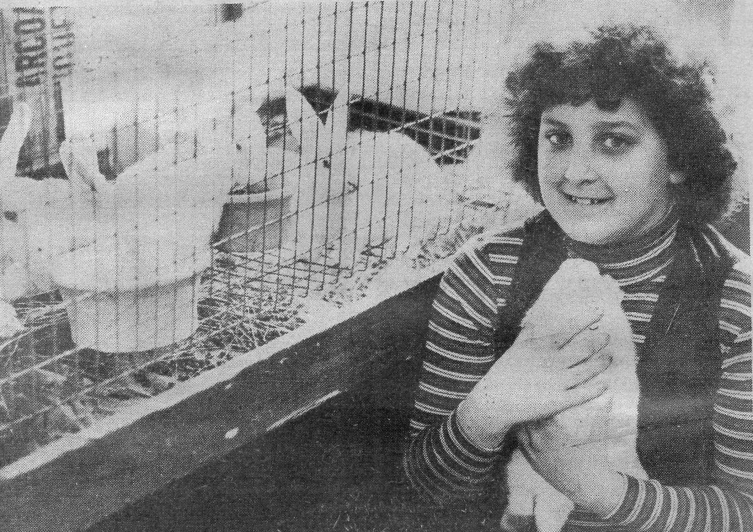 Sag Harbor Variety Store owner Lisa Field as a child when the store sold bunnies at Easter time. COURTESY LISA FIELD