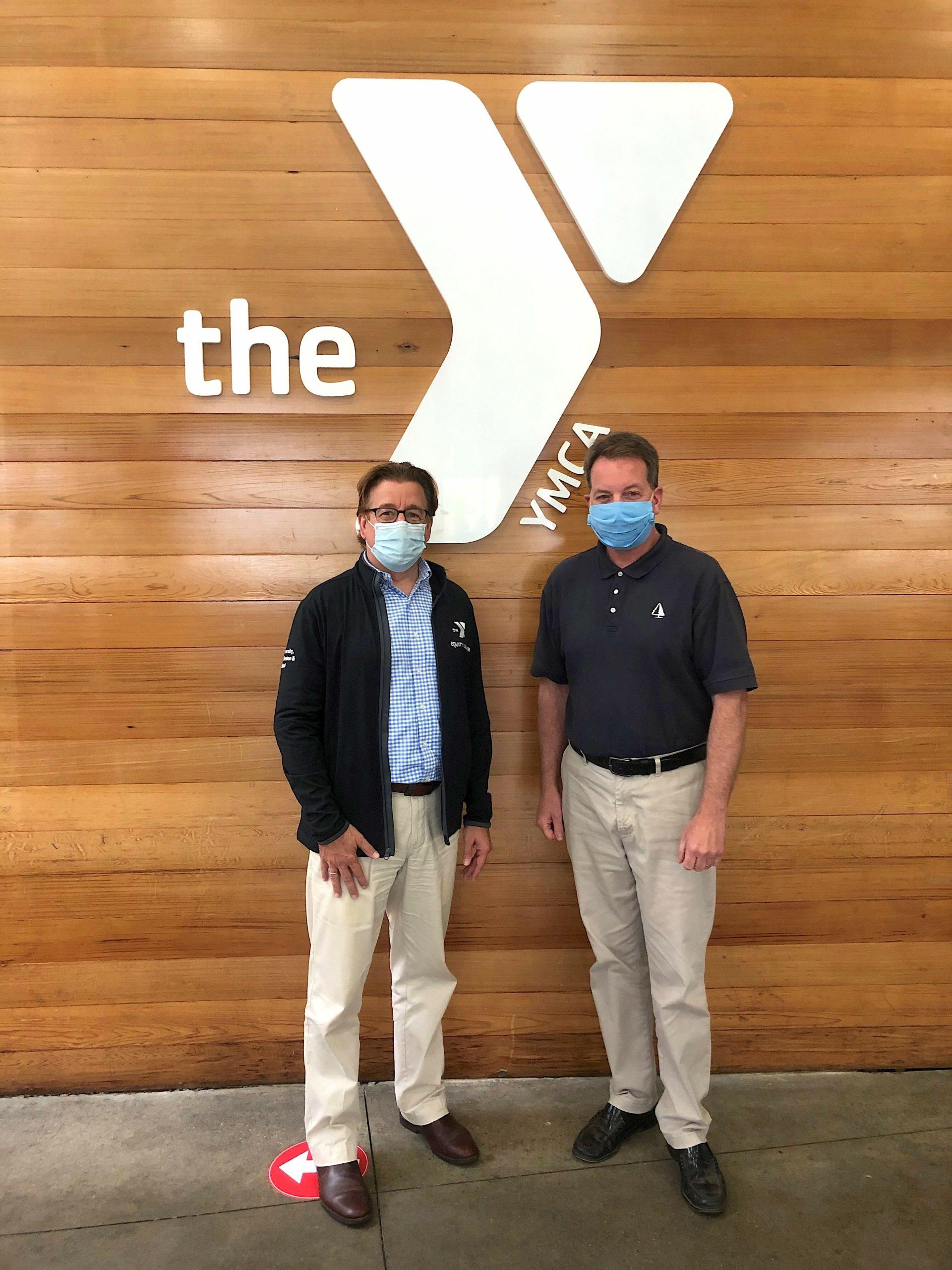 New YMCA East Hampton RECenter Executive Director Stephen Lee with East Hampton Village Mayor Jerry Larsen. Courtesy YMCA of Long Island