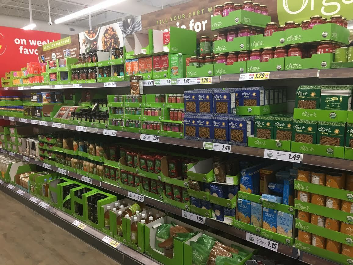 Shelves at Lidl's Center Moriches outlet boast store brand items at discounted prices. KITTY MERRILL