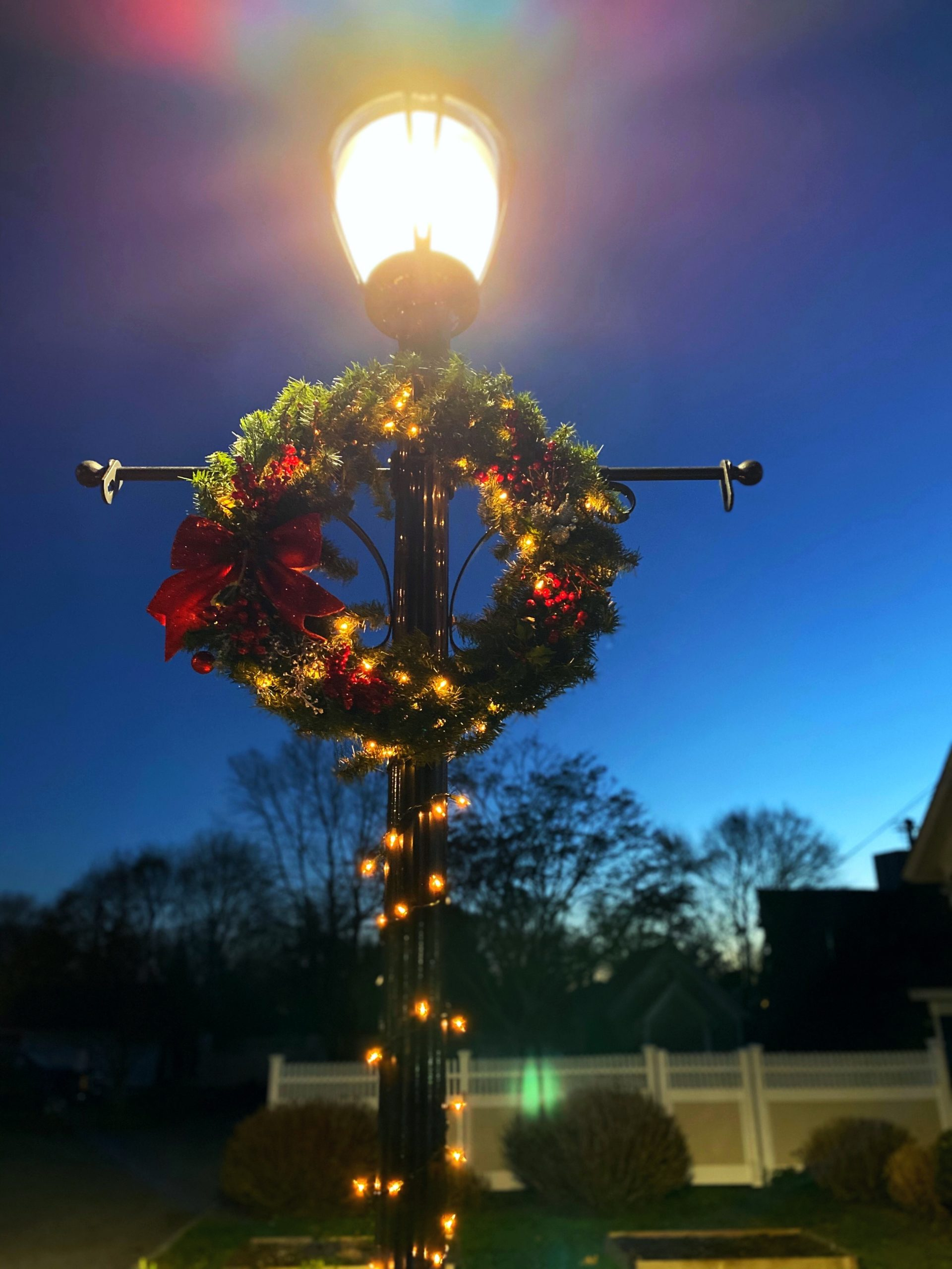 The Greater Eastport Chamber of Commerce and the Eastport Green Project raised money to light wreaths on Main Street last weekend in honor of the holiday season.