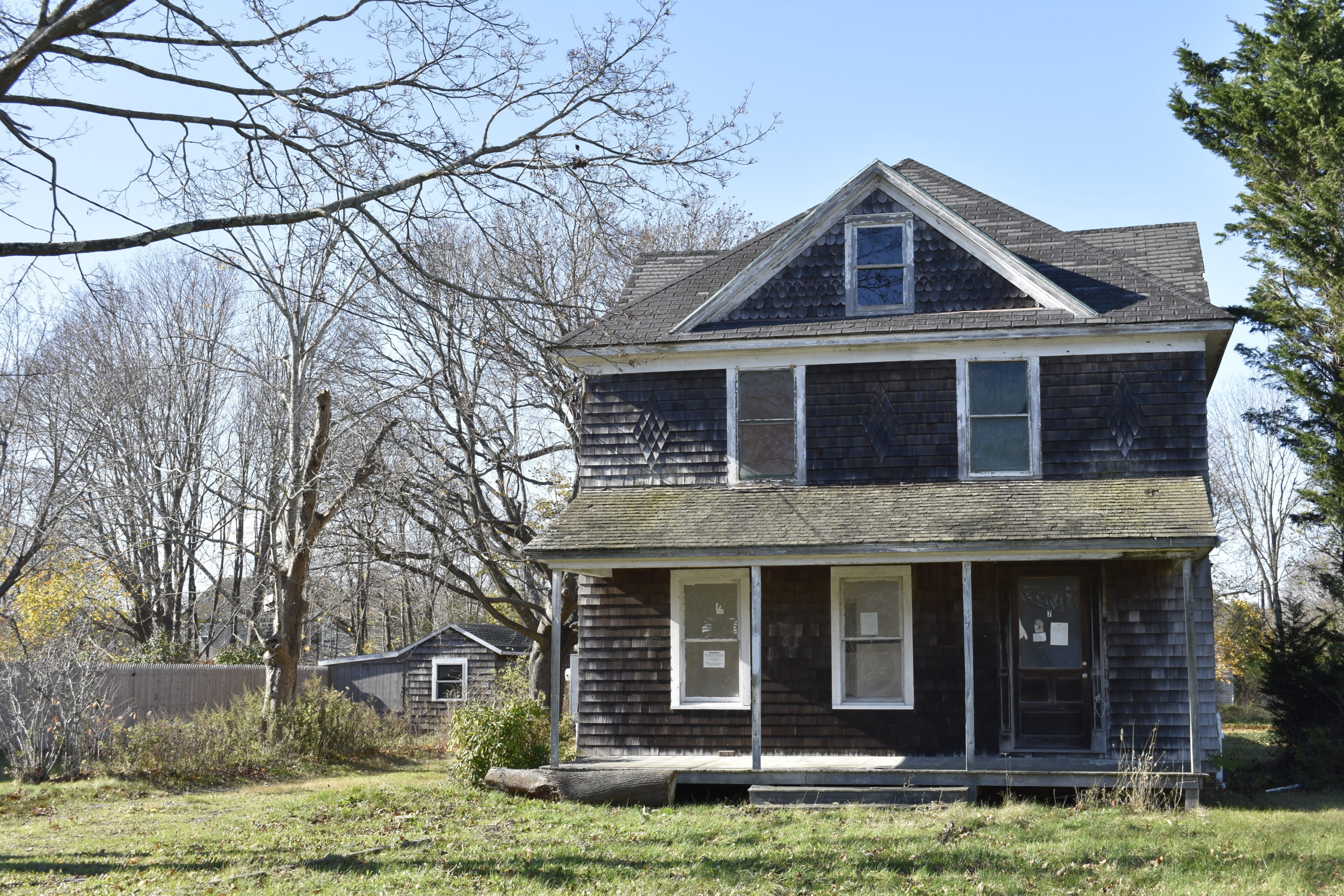Southampton Town has identified a neglected house on North Bay Avenue in Eastport as a