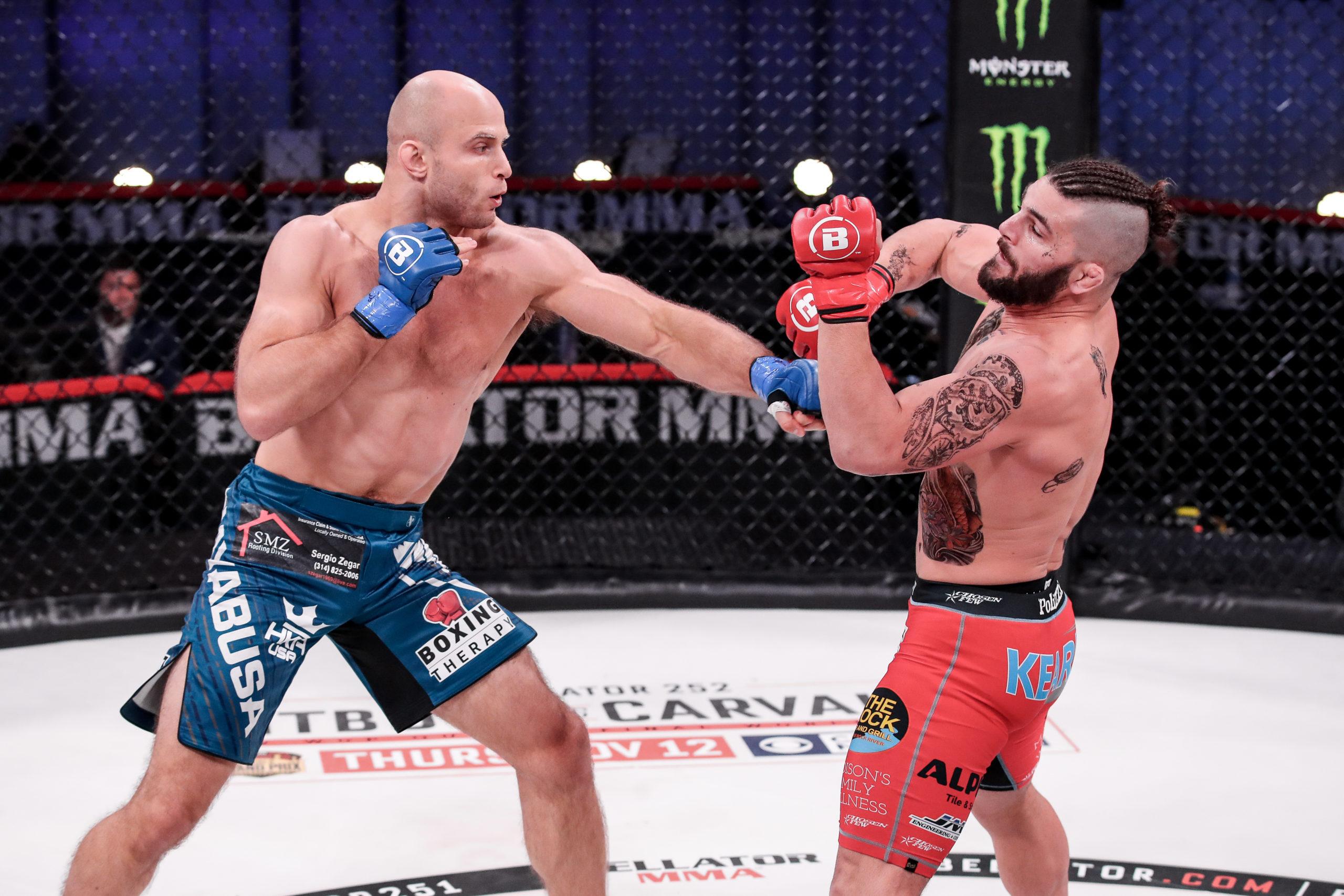 Julius Anglickas defeated Alex Polizzi by unanimous decision on November 5 at Mohegan Sun in Connecticut. LUCAS NOONAN/Bellator MMA