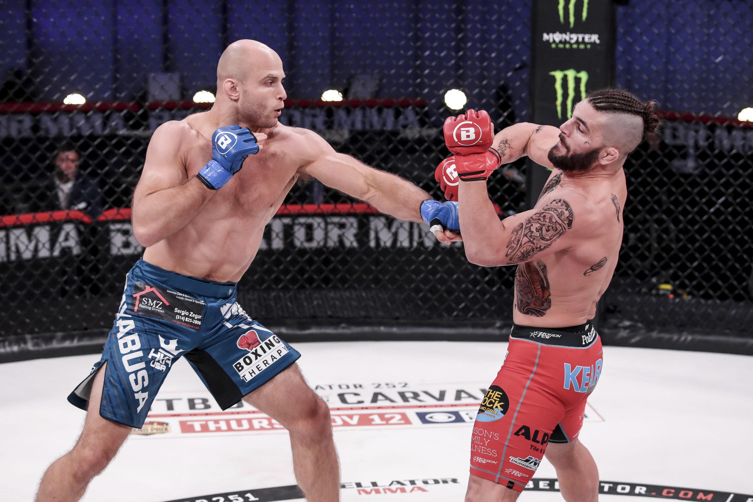Julius Anglickas in the ring.  LUCAS NOONAN