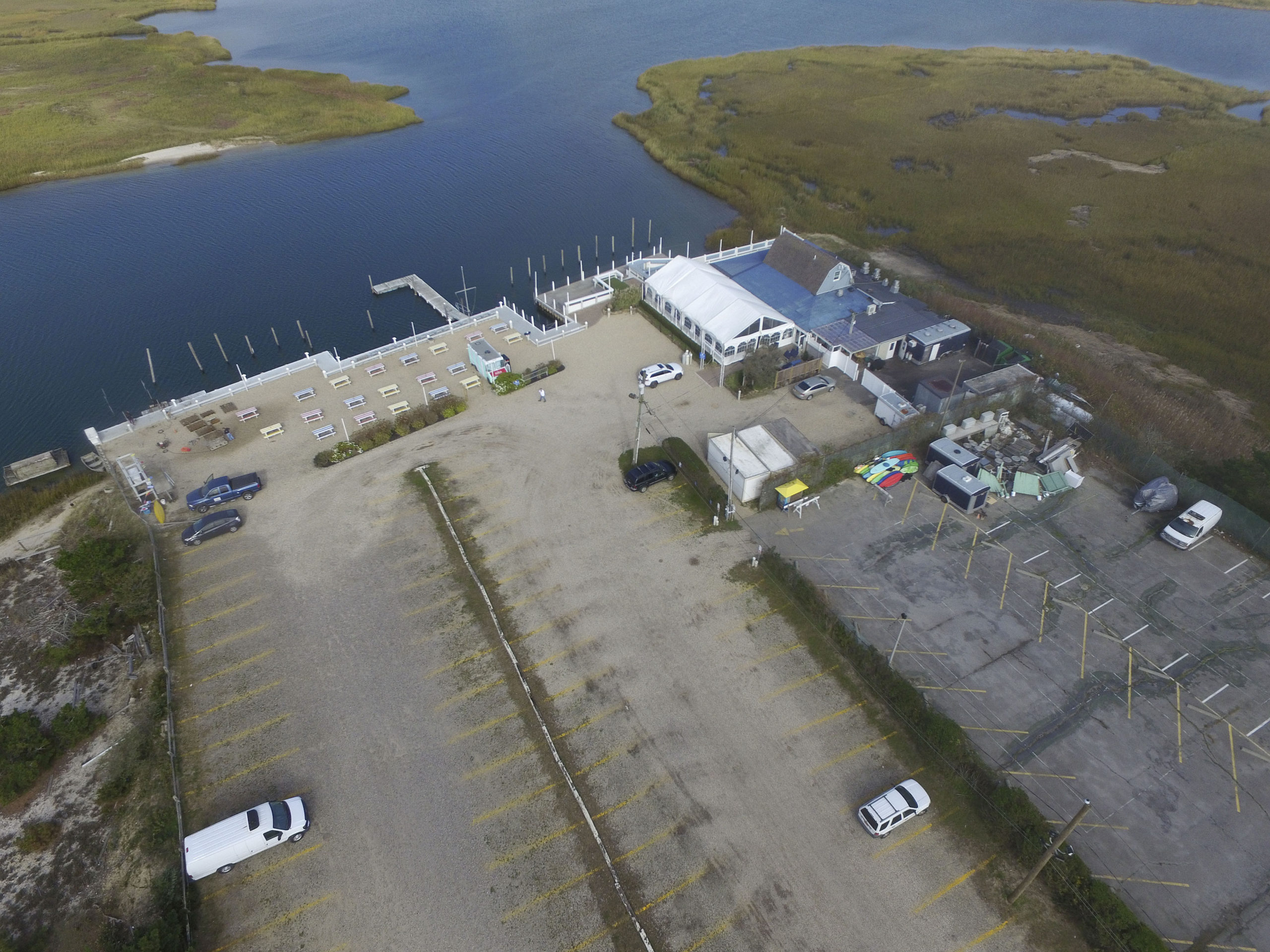 The owners of the property in East Quogue where Dockers Waterside Marina & Restaurant has stood for three decades are seeking approval to build a condominium complex in the restaurant's place.