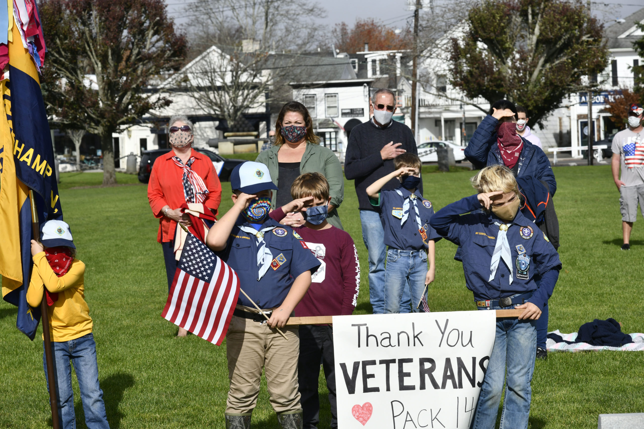 Veterans Day services were hled in Agawam Park in Southampton Village on Wednesday, November 11.