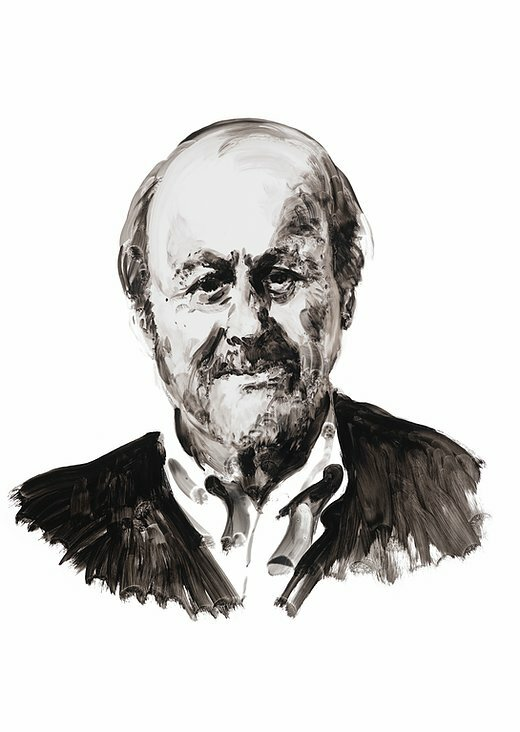 Author Edgar (E.L.) Doctorow. A portrait by Eric Fischl.
