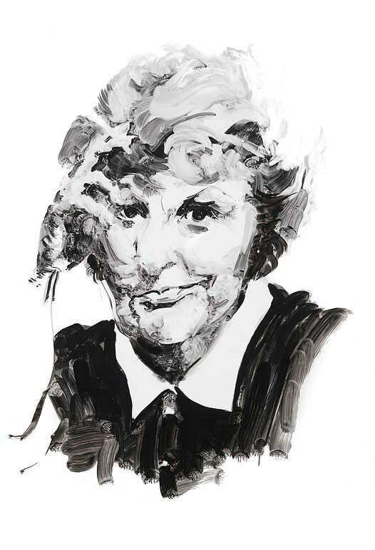 Actress Elaine Stritch. A portrait by Eric Fischl.