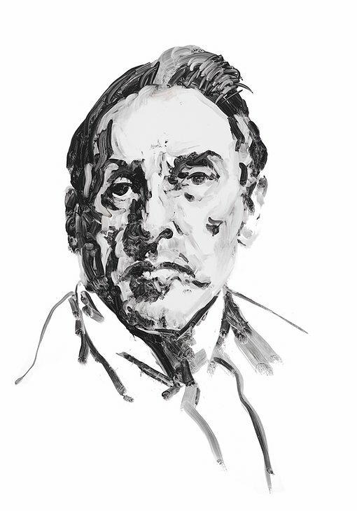 Choreographer George Balanchine. A portrait by Eric Fischl.